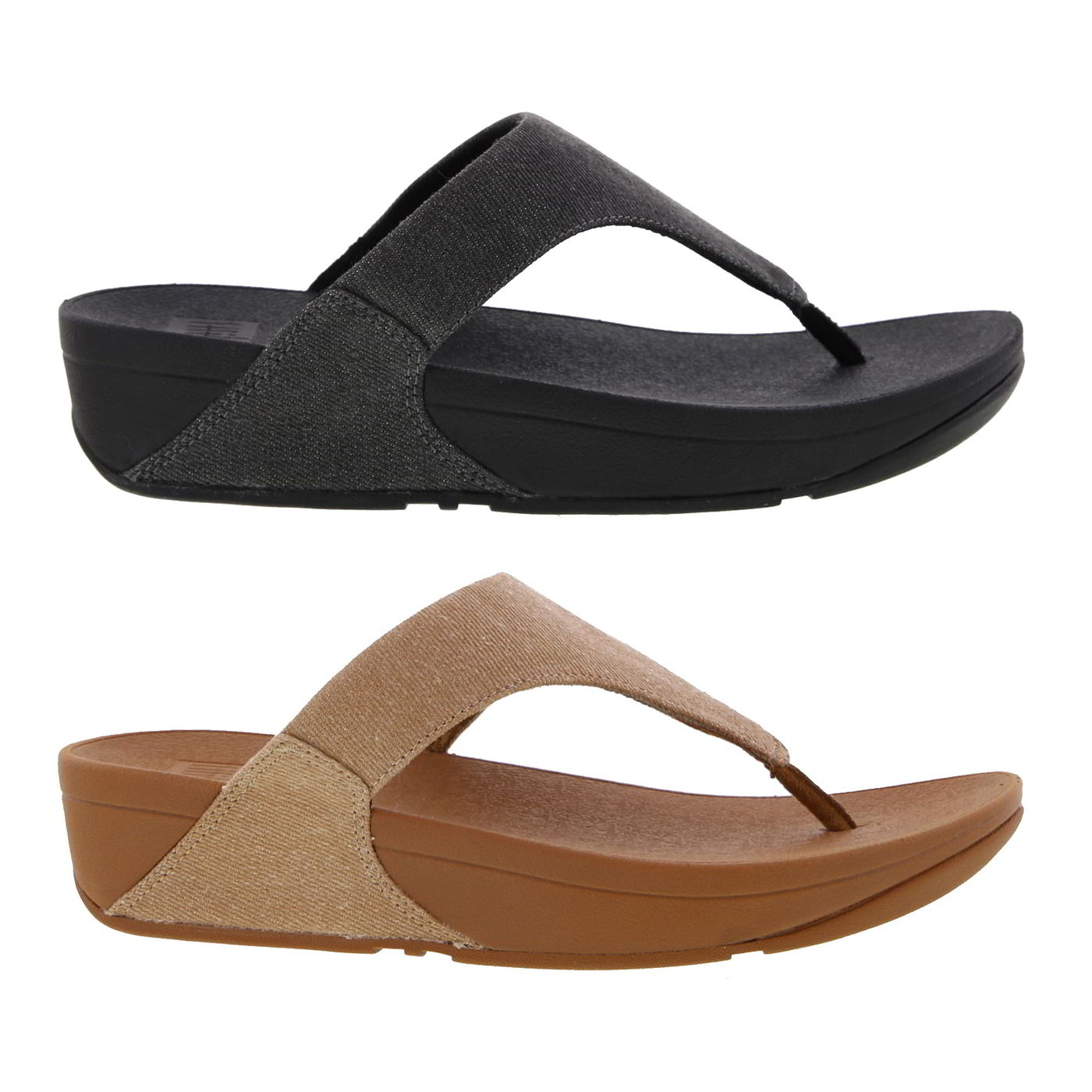 55ef9c293 Details about fitflop lulu toe post womens canvas black beige sandals flip  flops size jpg 1400x1400
