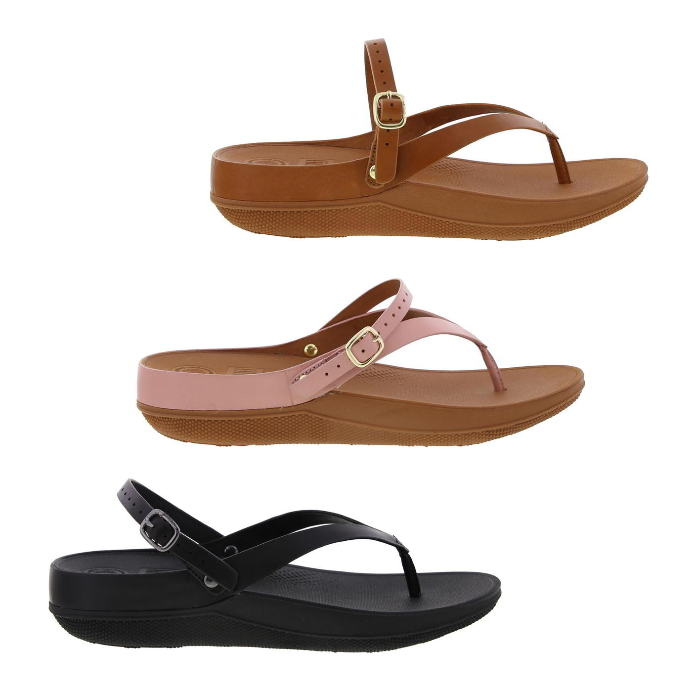 984f28d5f FitFlop Flip Leather Sandal Womens Ladies Pink Leather Toe Post ...