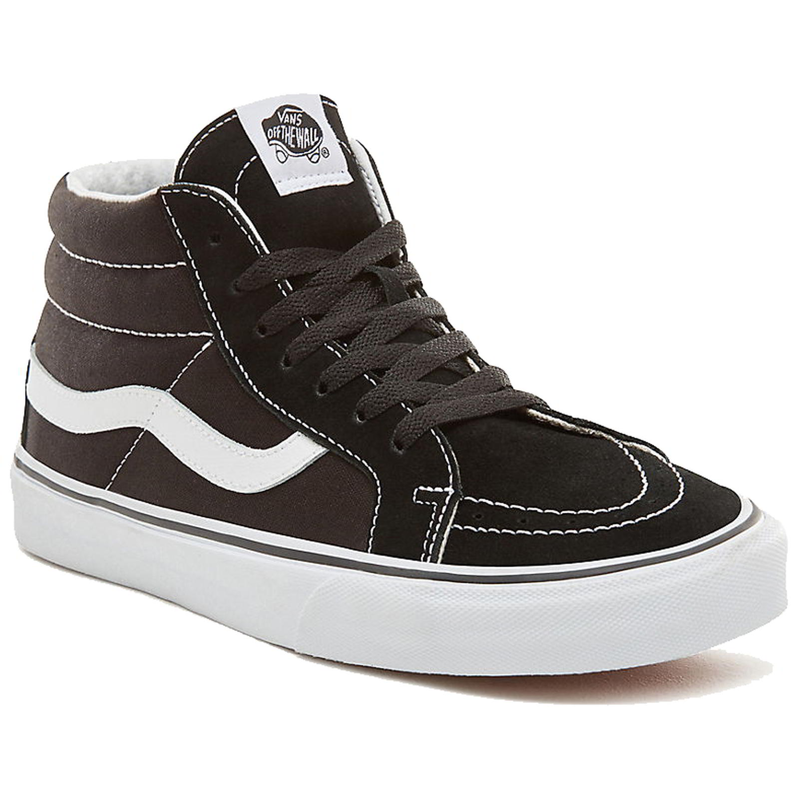Vans Black Sk8 Mid Reissue Mens Hi Top Skate Shoes Trainers Size 8 ... 58efe0107