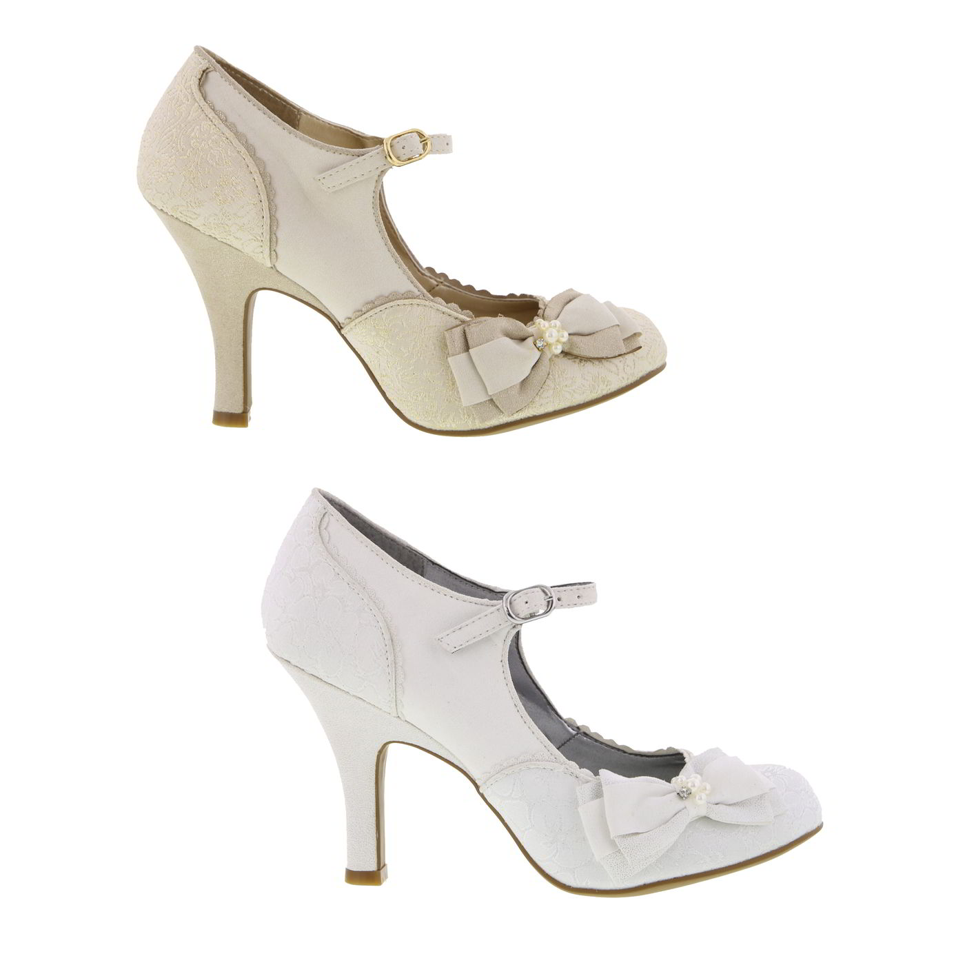 abc524189bd Details about Ruby Shoo Maria Womens Ladies Vegan Bridal Wedding Party Shoes  Size 4-9