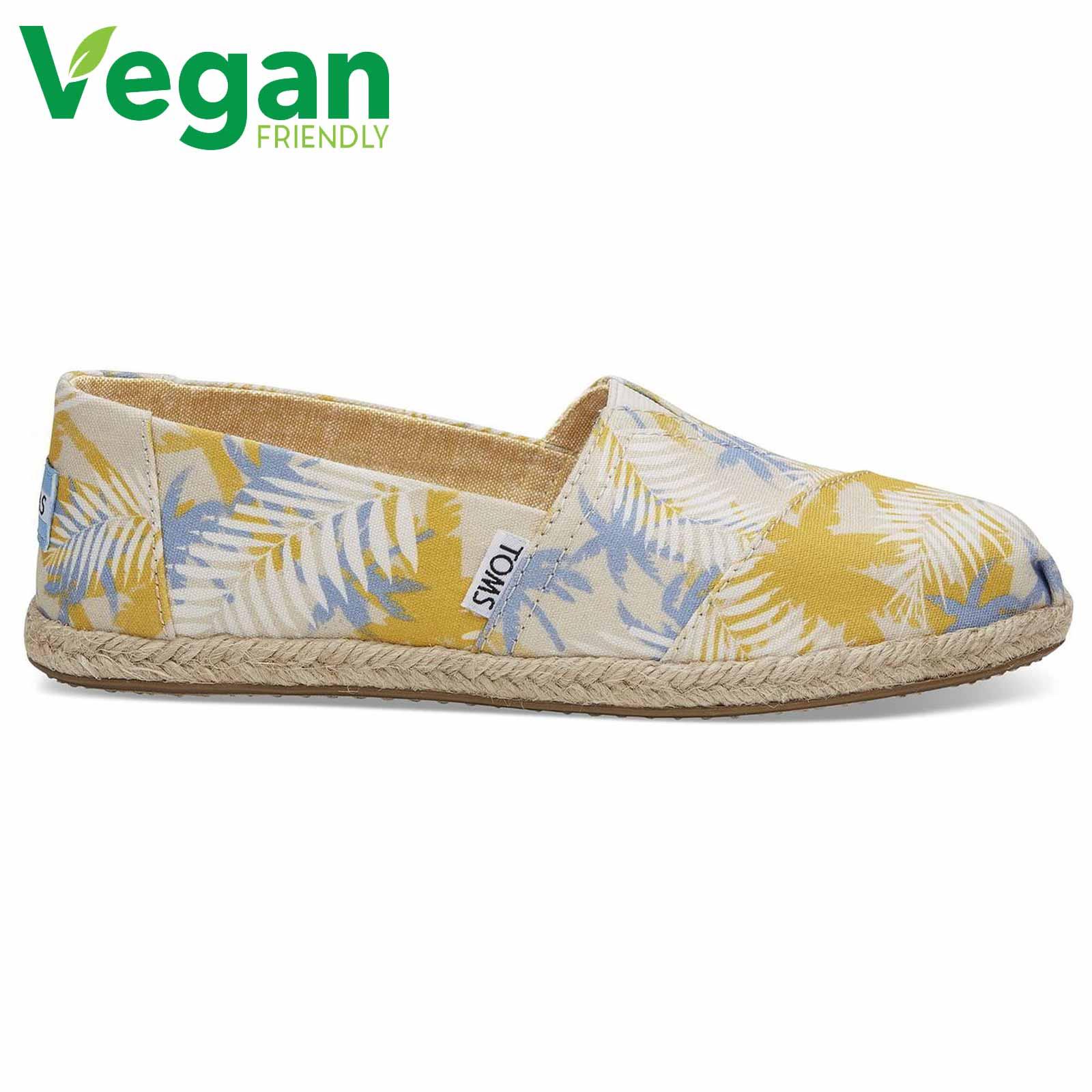best sneakers 9040e 0687b Dettagli su Toms Espadrillas Donna Vegan Classica In Tela Slip On Scarpe  Taglia 4-8- mostra il titolo originale