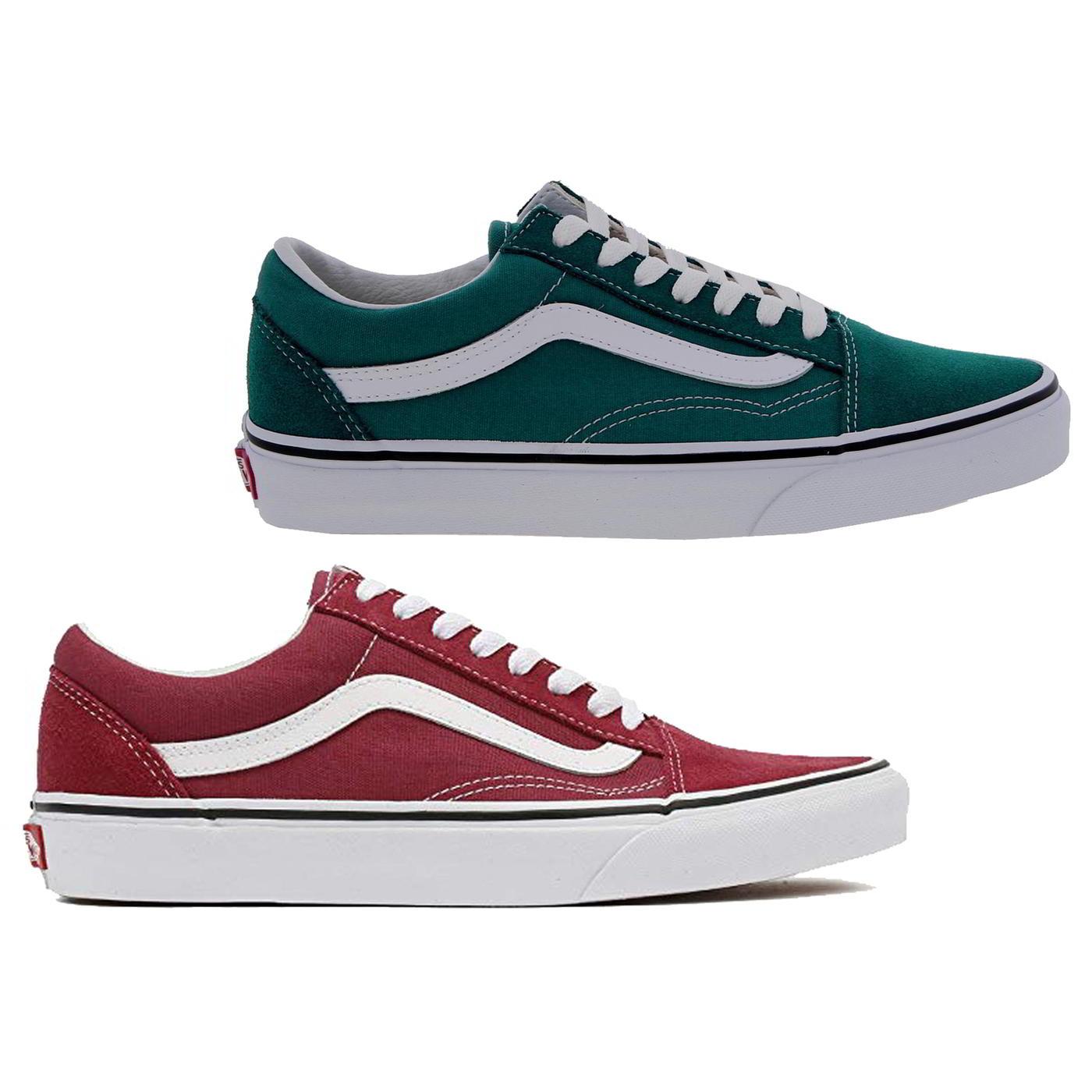 73e23fbb91 Dettagli su Vans Old Skool Sneaker da donna verde e rosso Lacci Scarpe Da  Ginnastica Da Skate Scarpe Misura 4-7- mostra il titolo originale