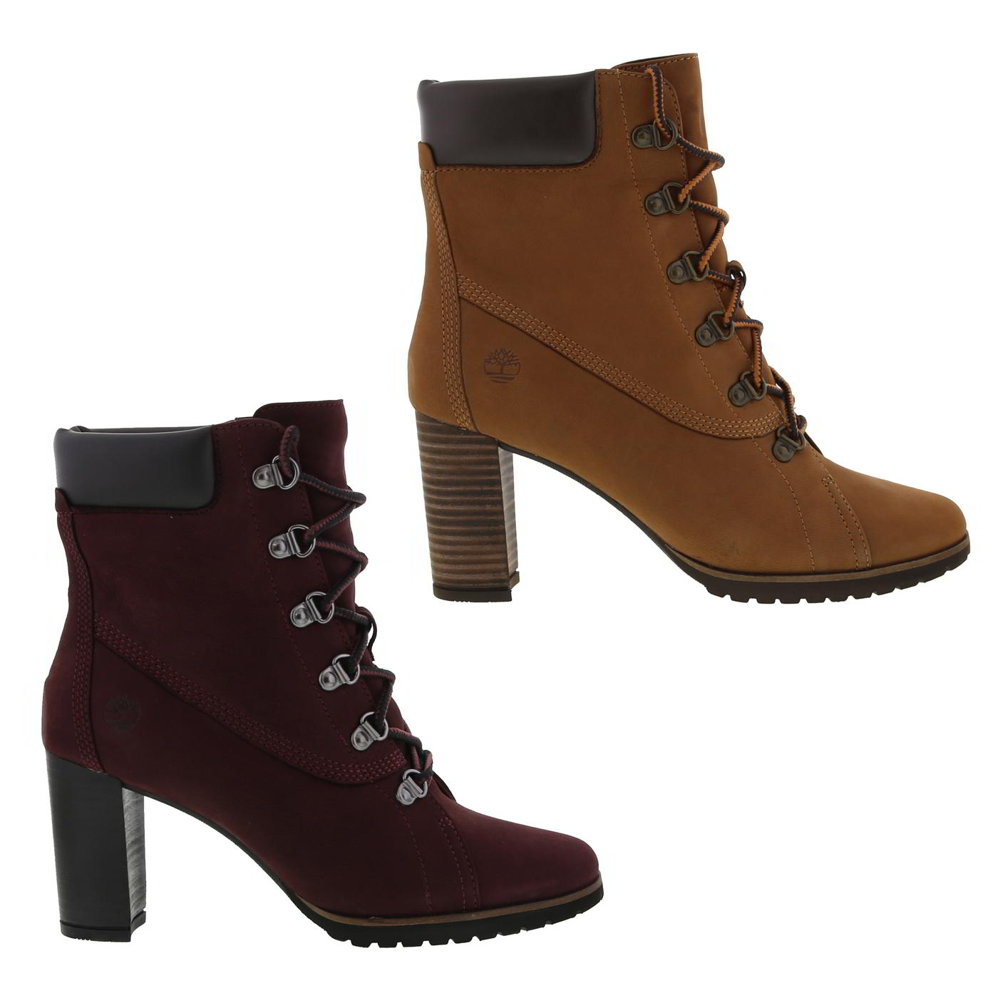 6039c8723d8 Timberland Leslie Anne Womens Ladies High Heel Leather Ankle Boots ...