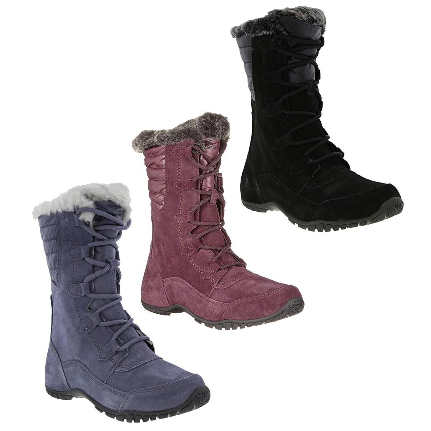 df07099ec Details about North Face Nuptse Purna II Womens Ladies Waterproof Walking  Snow Boots Size 5-8