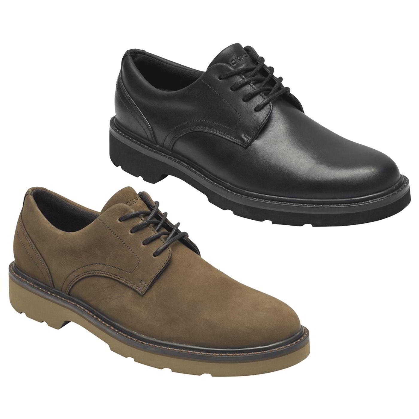 Rockport Charlee Mens Waterproof Black Brown Leather Walking Shoes Size 8-11