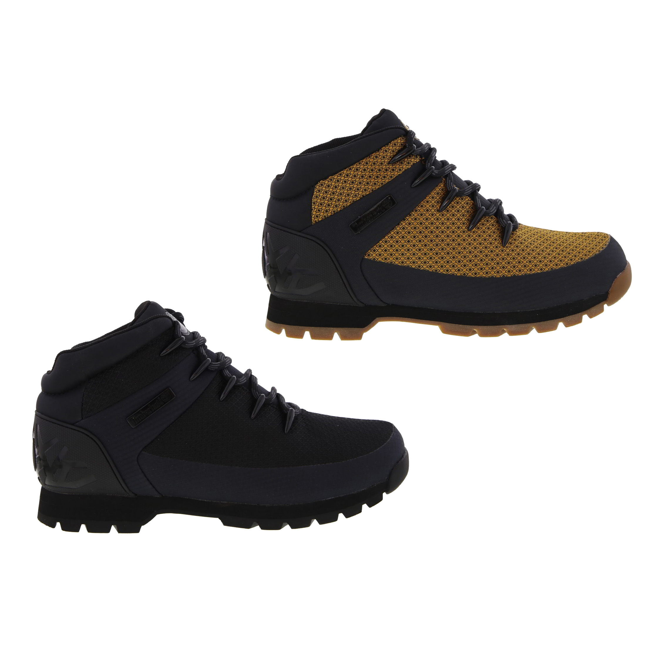 Timberland Mens Euro Sprint Hiker Grey Fabric Lace Up Ankle Boots ... 4a8b8470acc