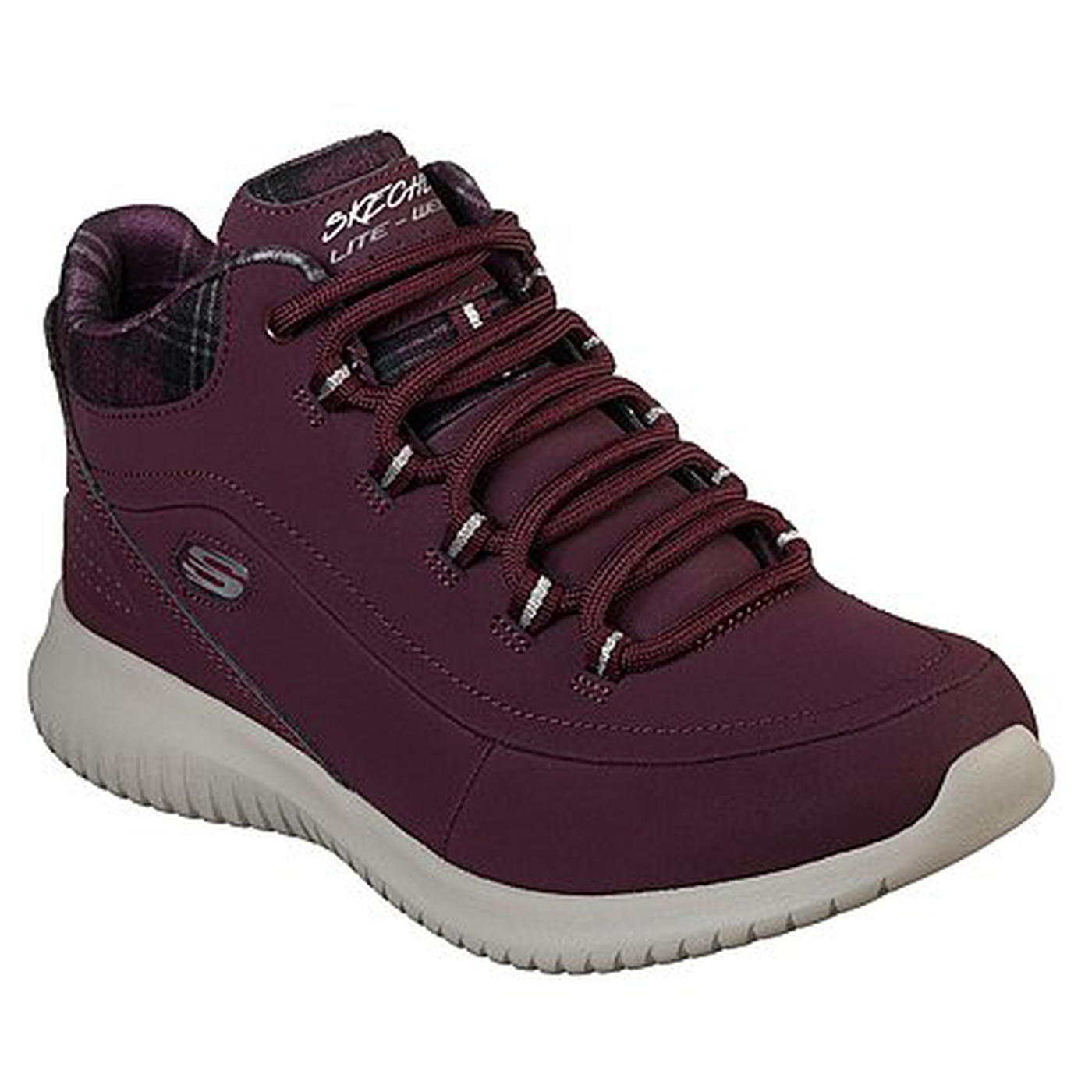 Details about Skechers Womens Ladies Ultra Flex Just Chill Purple Chukka  Boots Trainers Shoes