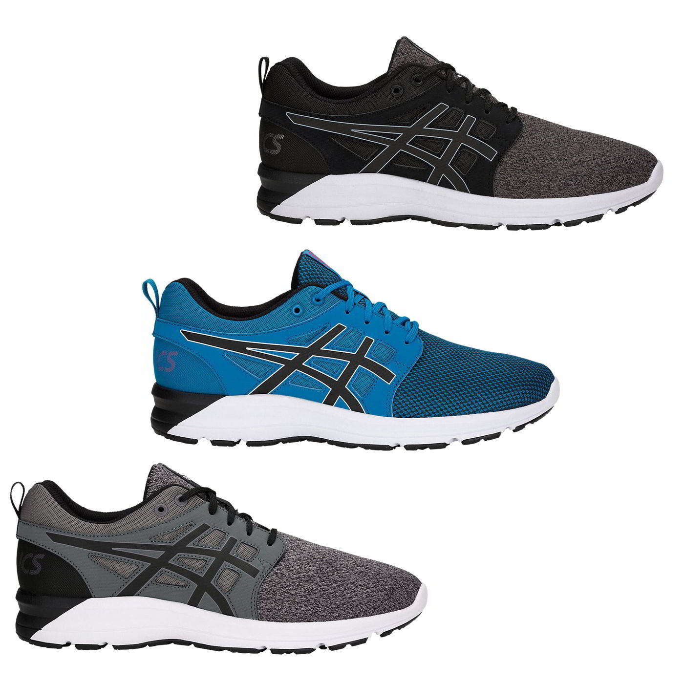 3488aeea Details about Asics Gel Torrance Mens Black Grey Blue Running Shoes  Trainers Size 8-14