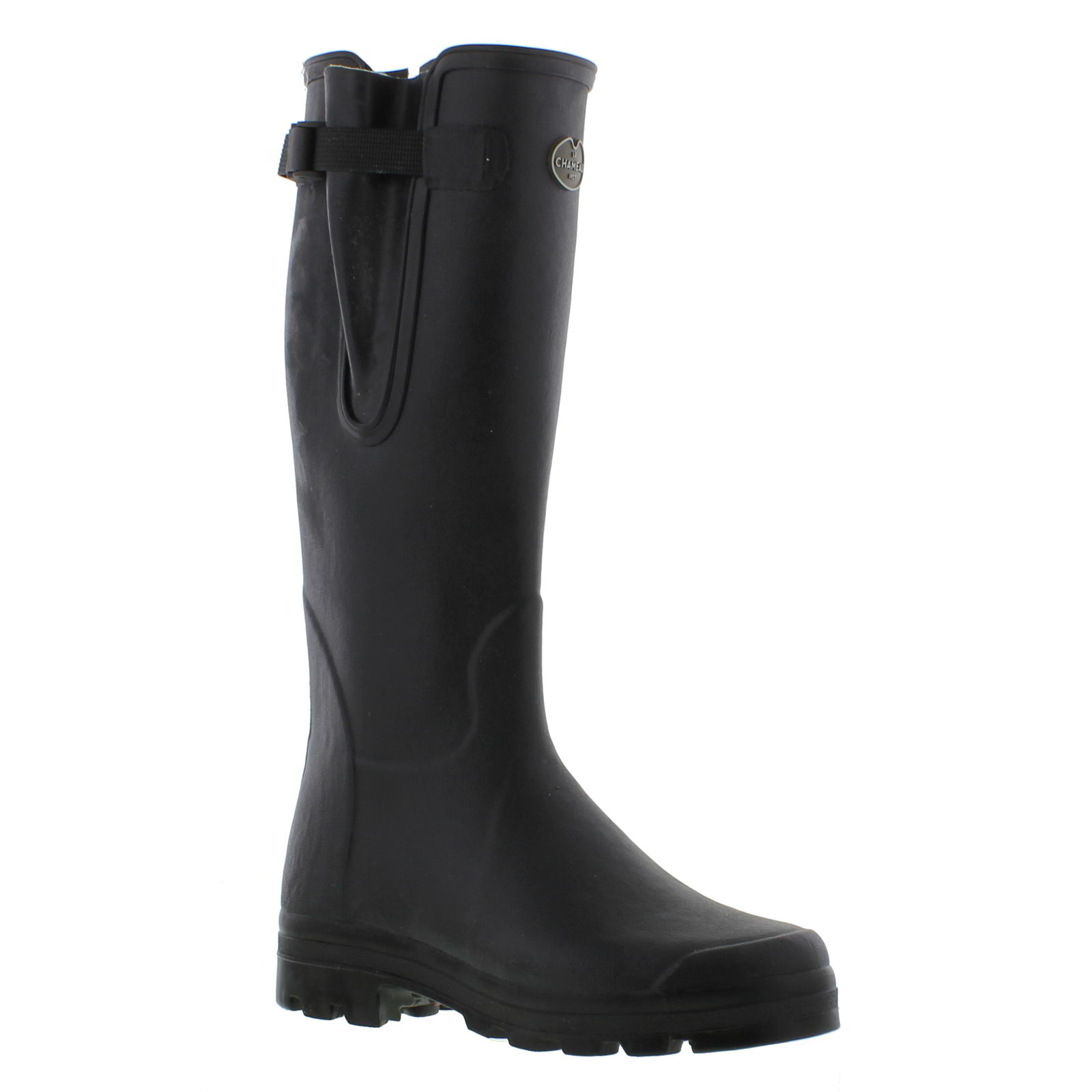 35f931750ef Details about Le Chameau Mens Vierzon Jersey Black Wellies Wellington Boots  Size 7-11