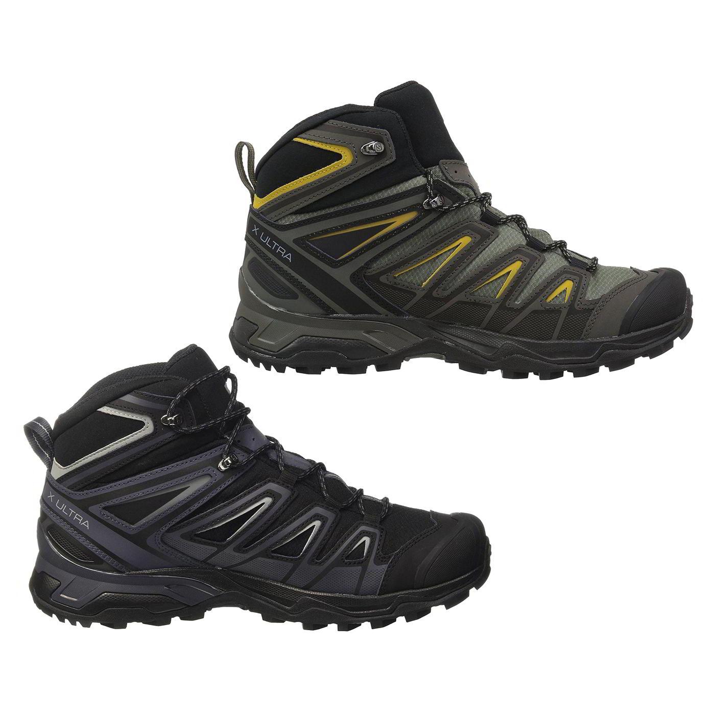 3a402b59622 Details about Salomon X Ultra 3 Mid GTX Mens Wide Waterproof Walking Hiking  Boots Size 8-11