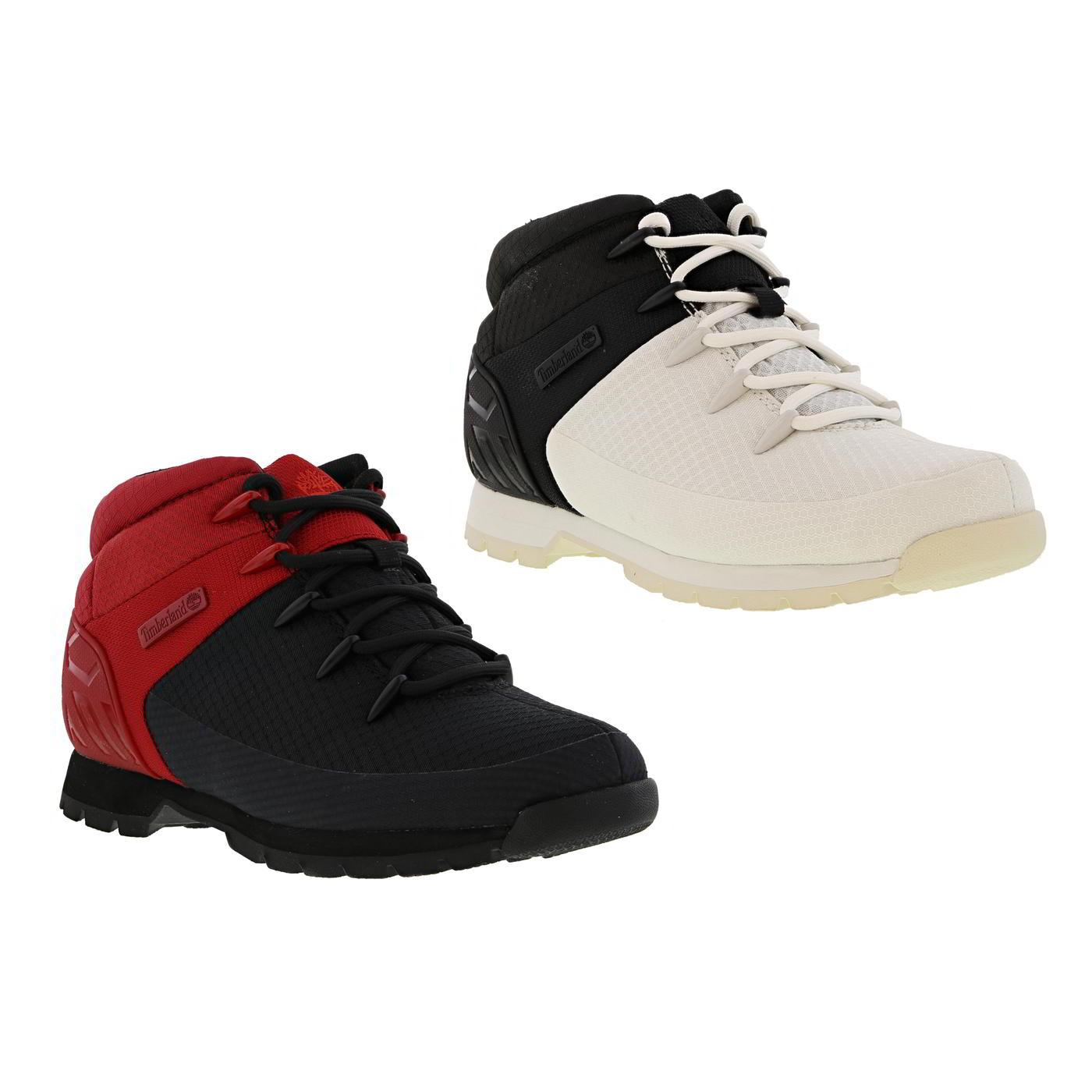 top quality on feet shots of los angeles Detalles de Timberland Euro Sprint Botas De Excursionista De Hombre Negro  Blanco Rojo Tobillo Botas Talla 8-11- ver título original