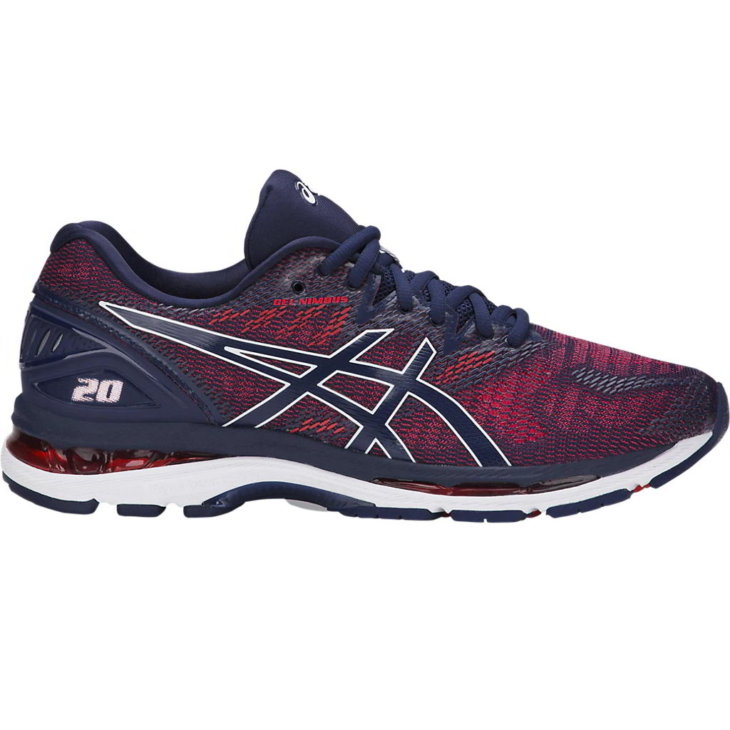 Maniobra Escarchado seguro  Asics Gel Nimbus 20 para Hombre Azul Zapatos de entrenamiento Rojo Size Uk  8-10.5 | eBay