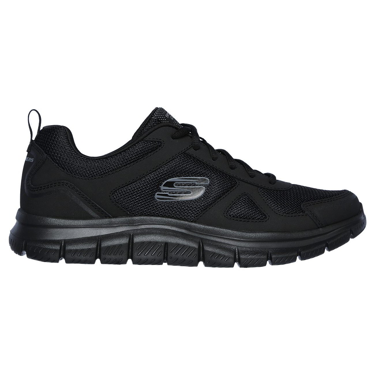 Mens Black Lace Up Trainers Shoes