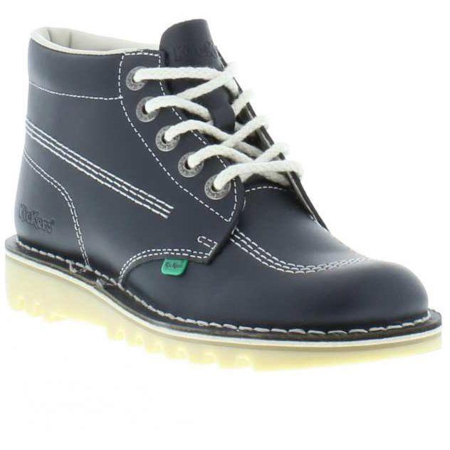 Détails Bleu Hi M d'origine Cuir Bottines Chaussures Kick en Taille titre Classique sur 11 Homme Bottes 6 afficher Kickers le 4q35RAcjL