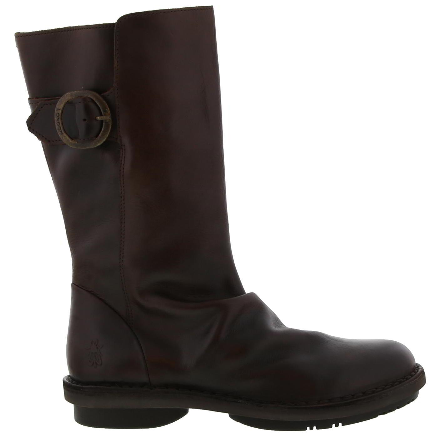 Fly london Reko542fly Black Womens Leather Calf Hi Boots