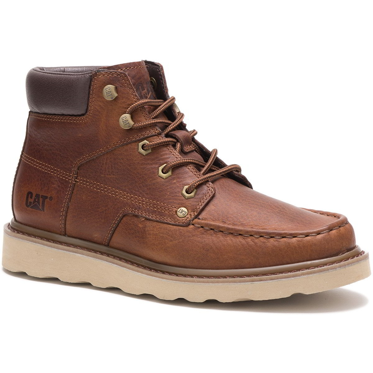 Caterpillar Byron Mens Brown Wide Fit