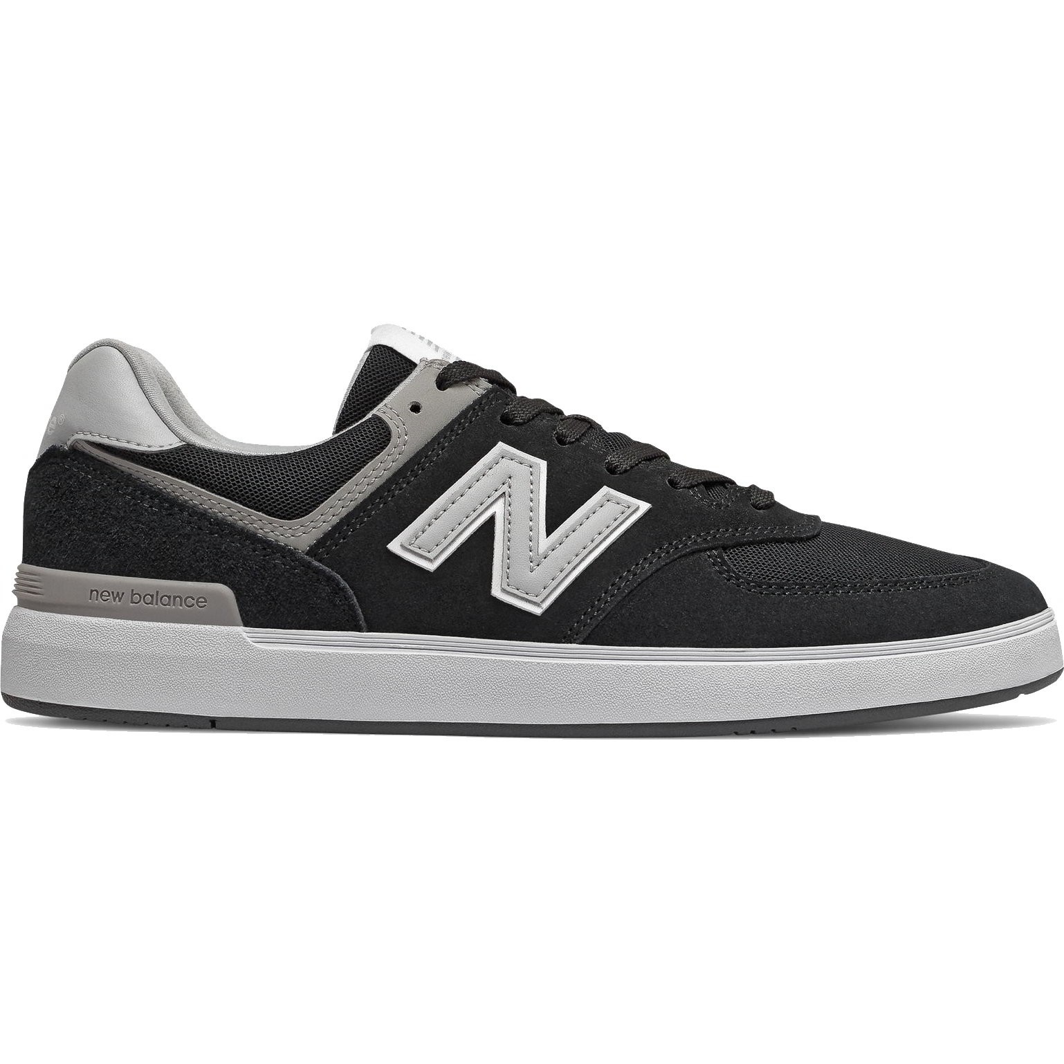New Balance AM 574 Mens All Coasts Black Skate Trainers Shoes ...