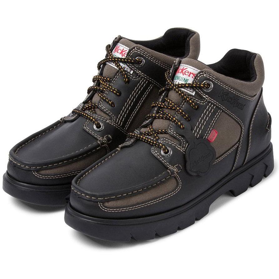 kickers kelland leather school shoes