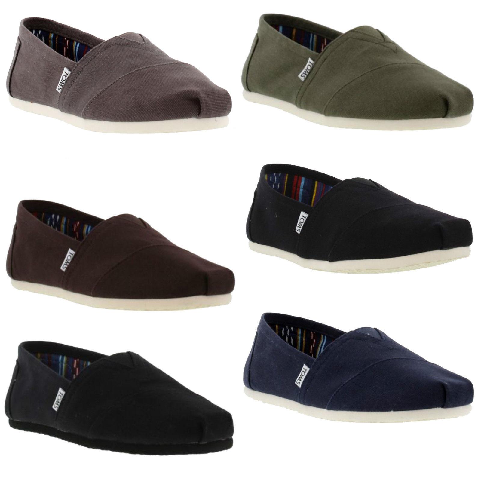 02c9d406441 Details about Toms Classics Mens Canvas Slip On Espadrilles Shoes Size UK  6-12