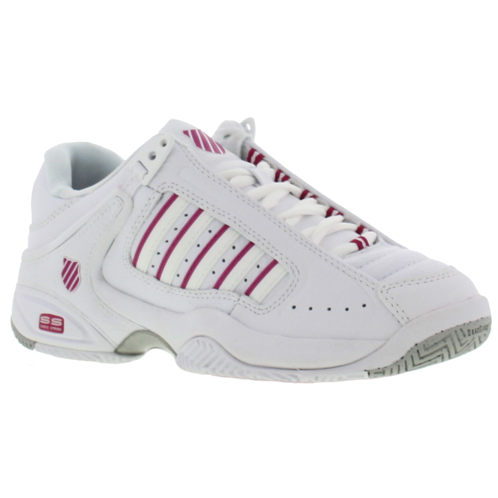 k swiss defier rs womens white leather trainers tennis