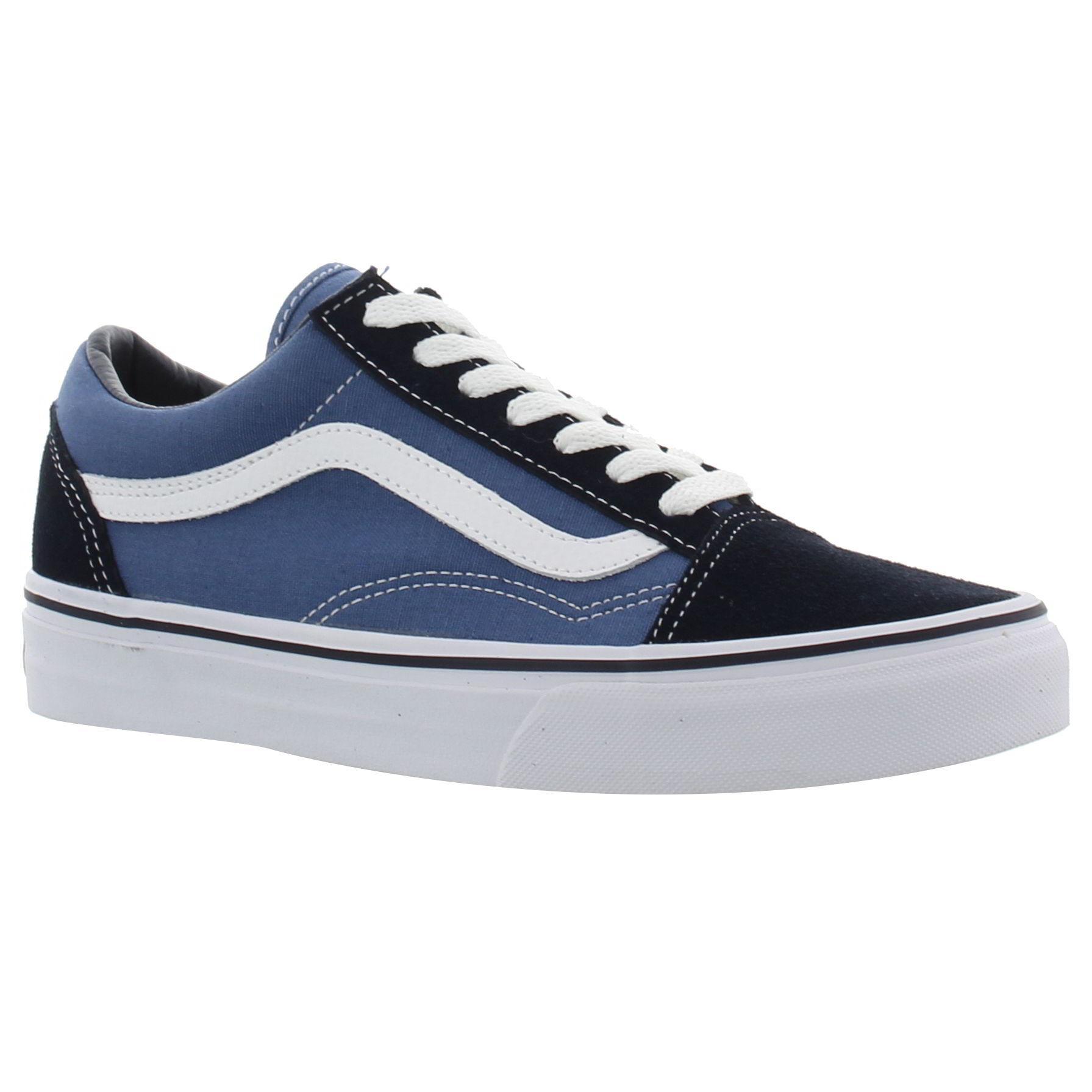 7546b47fee474 Dettagli su Vans Old Skool Blu Navy Uomo Donna Classico Scarpe Da  Ginnastica Da Skate Scarpe Misura 4-12- mostra il titolo originale
