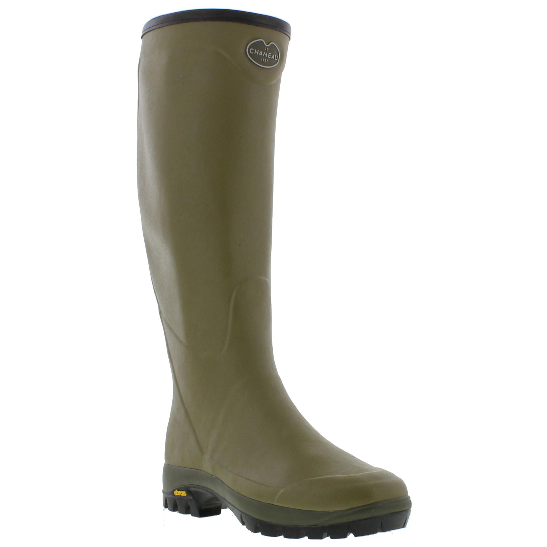 Details zu Le Chameau Country Vibram Mens Wellies Wellington Boots Size 6.5 11