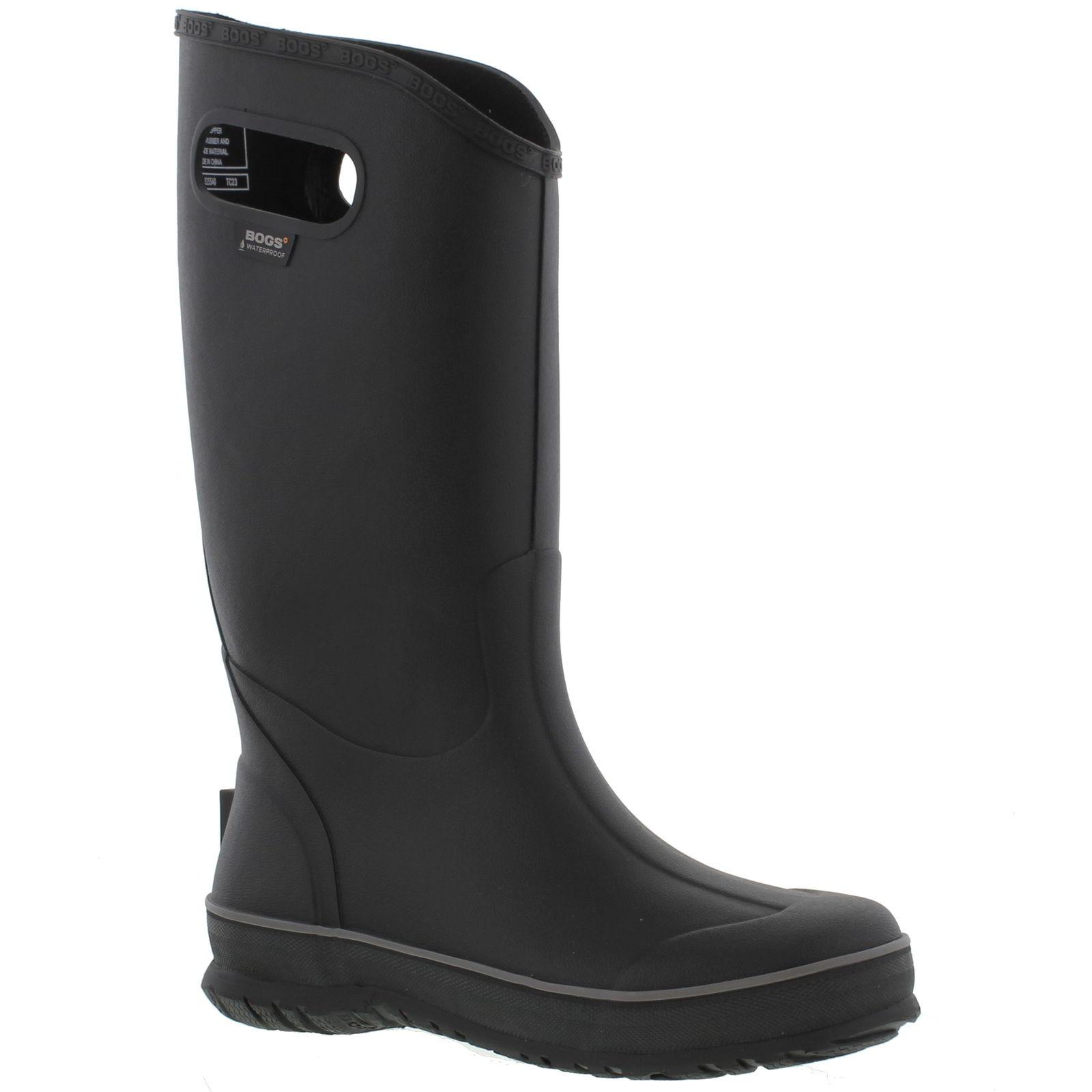 a89136383 Detalles acerca de Bogs Bota De Lluvia para Hombres Negro Wellington Botas  de lluvia Alto Caminar Botas De Agua Size Uk 7-11- mostrar título original