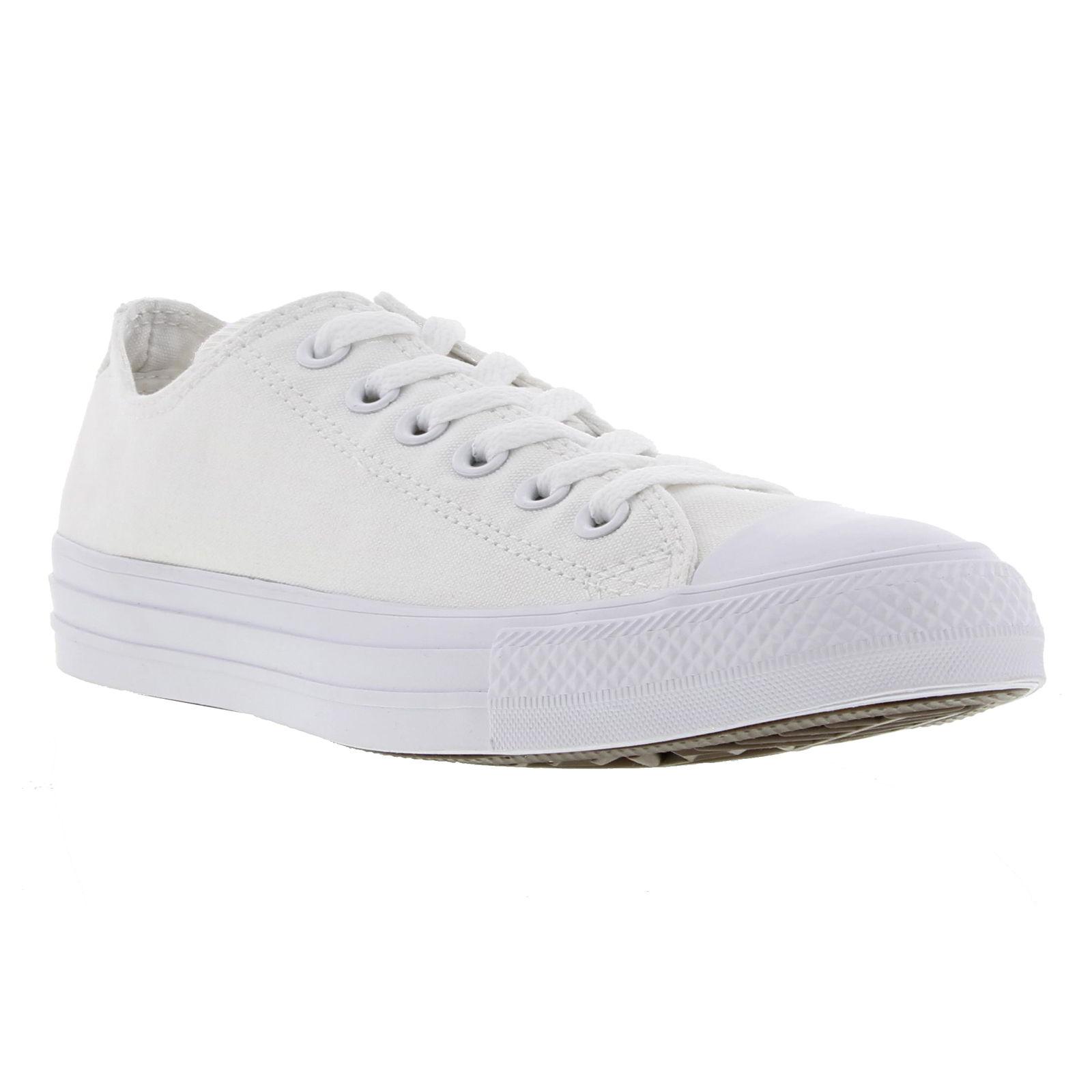 8ce2ca8d4 Detalles de Converse Chuck Taylor All Star Ox Blanco Lona Zapatos Oxford  Tenis De Entrenamiento Talla 4-10- ver título original
