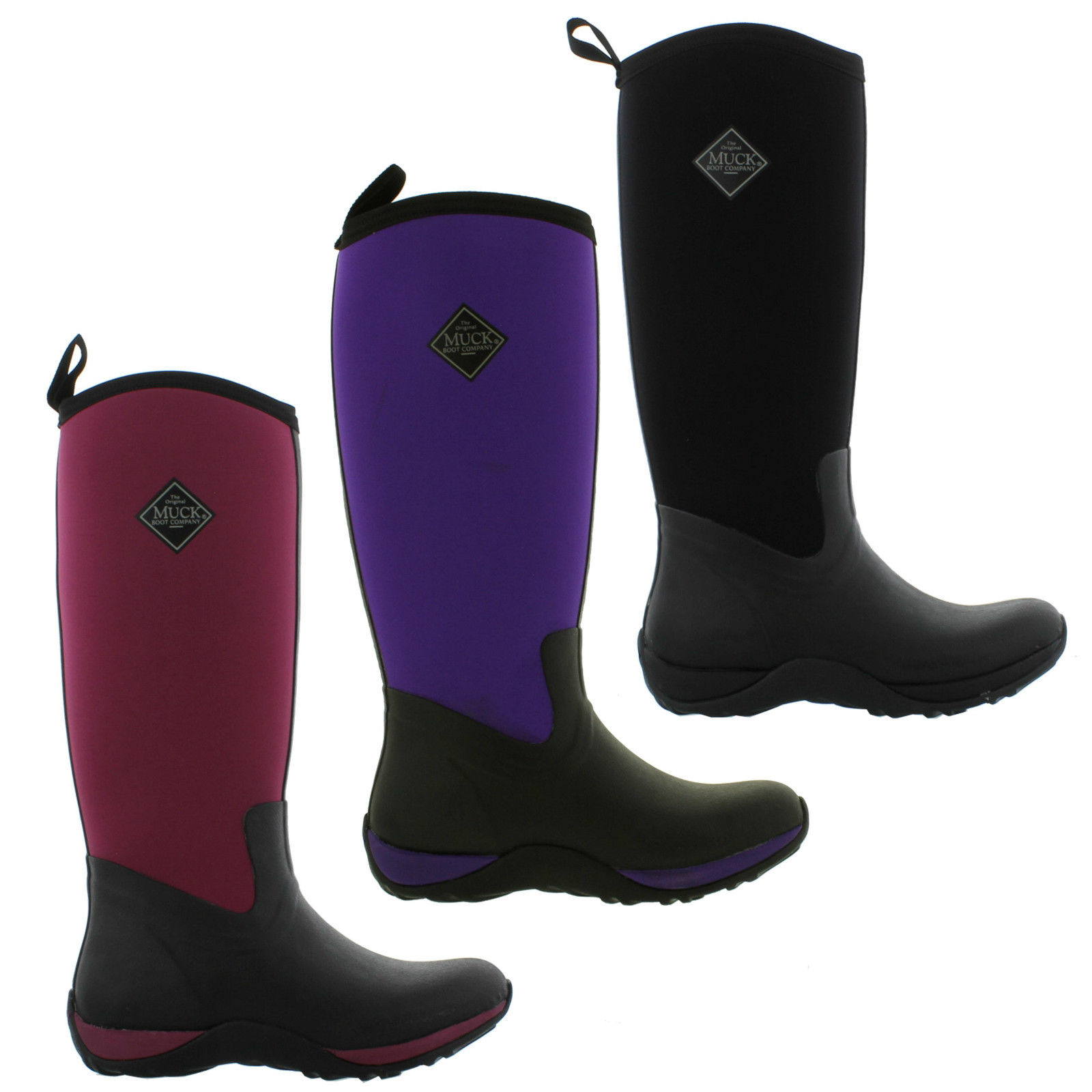 745cd0c94f3 Details about Muck Boots Arctic Adventure Womens Ladies Wellington Neoprene  Wellies Size 4-8