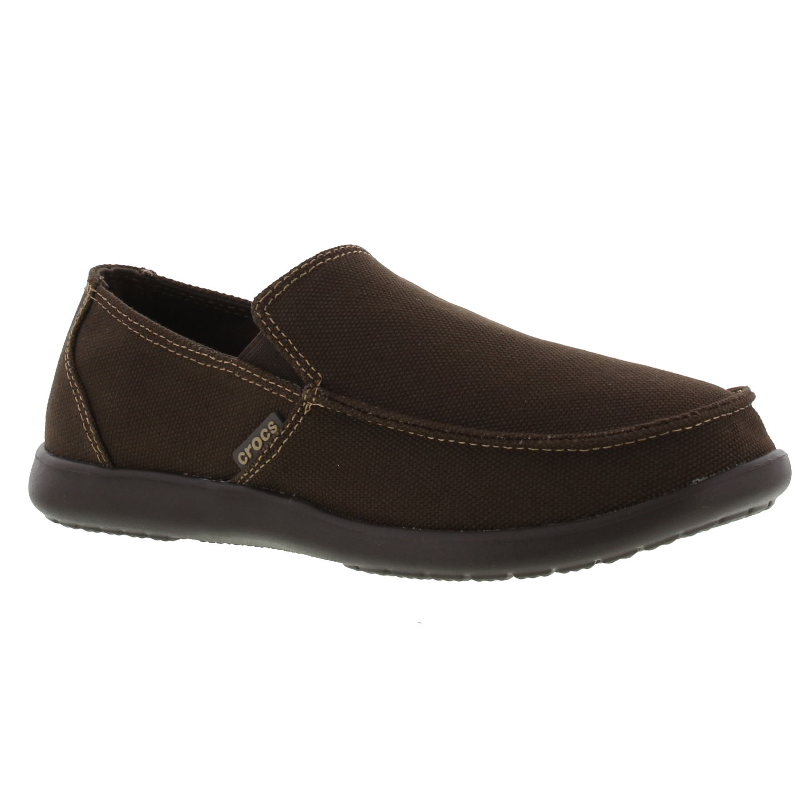 6ef11a9ed47b51 Details about Crocs Santa Cruz Clean Cut Loafer Mens Brown Slip On Shoes  Size UK 7-12