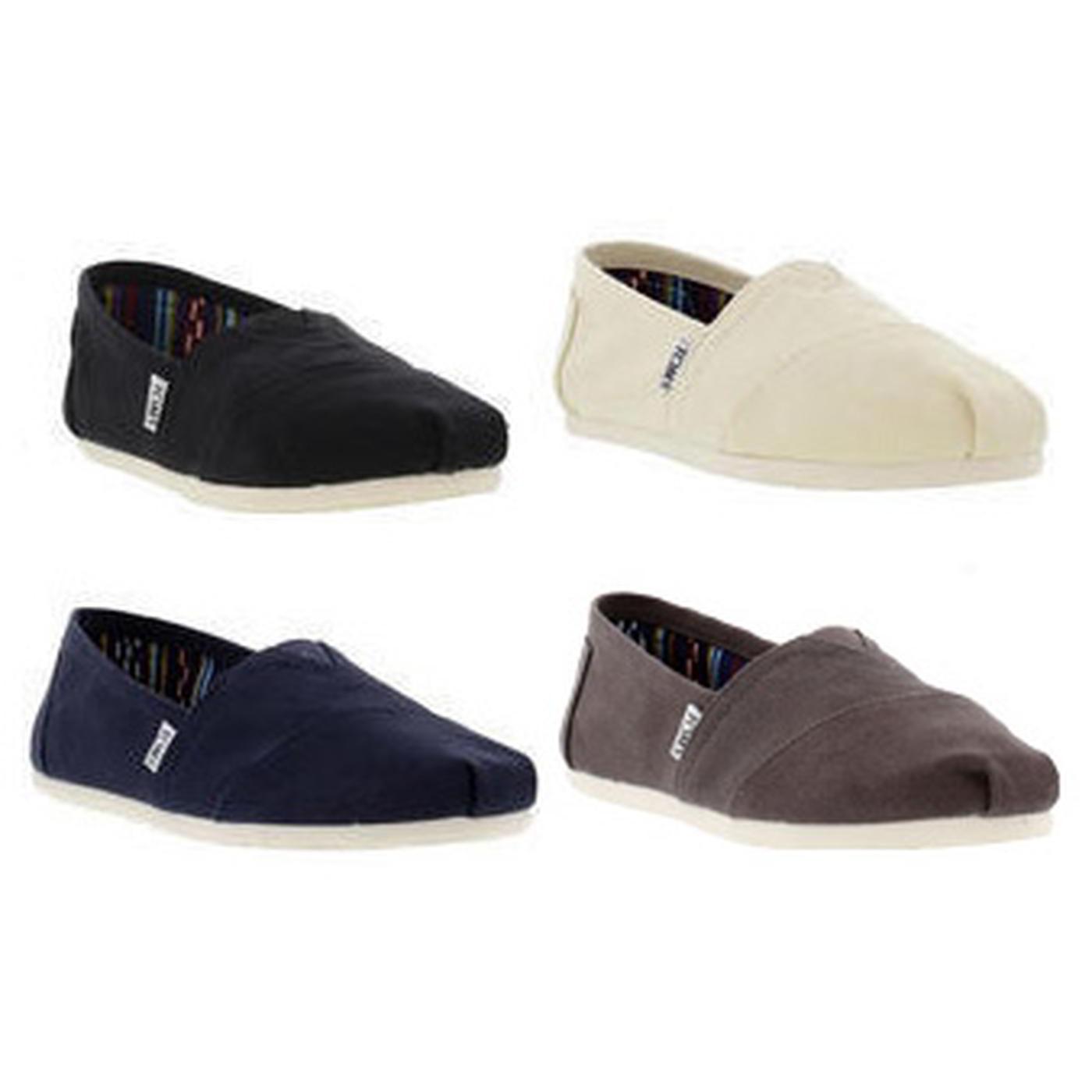 21fe1709d00b6 Details about Toms Classic Alpargata Womens Ladies Canvas Slip On  Espadrilles Shoes Size 4-8