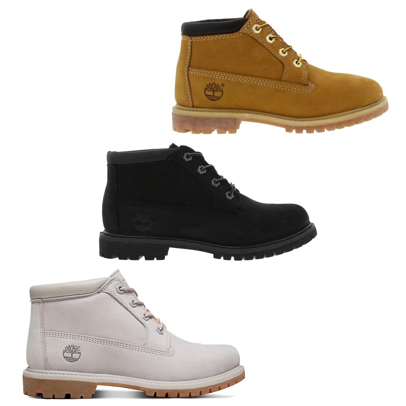 Timberland Nellie Womens Chukka Boot Waterproof Black Wheat Yellow ... 6644204c905