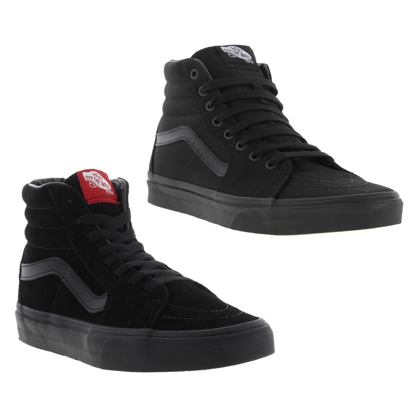16a7ab1f1f9 Détails sur Vans SK8 HI homme femme noir Montantes Skate Baskets Chaussures  Taille UK 4-13- afficher le titre d origine