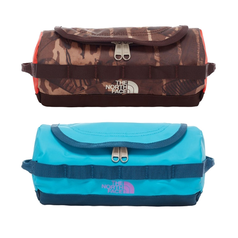 402ba00a2 North Face Base Camp Travel Canister Wash Bag Brown Blue Travel Bag ...