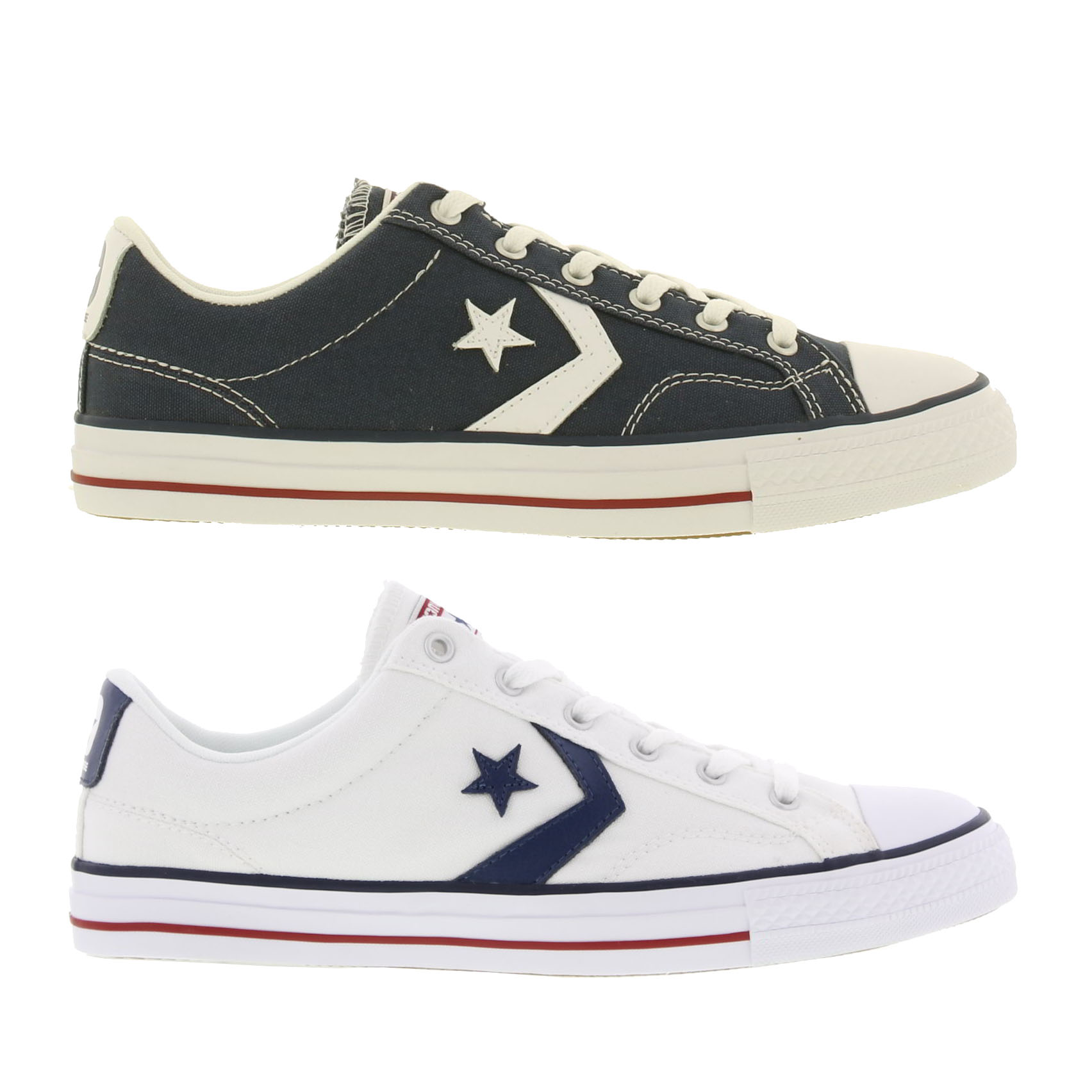 732c48aa77c5b5 Details about Converse Star Player Mens Blue White Canvas Trainers Shoes  Size UK 7-11