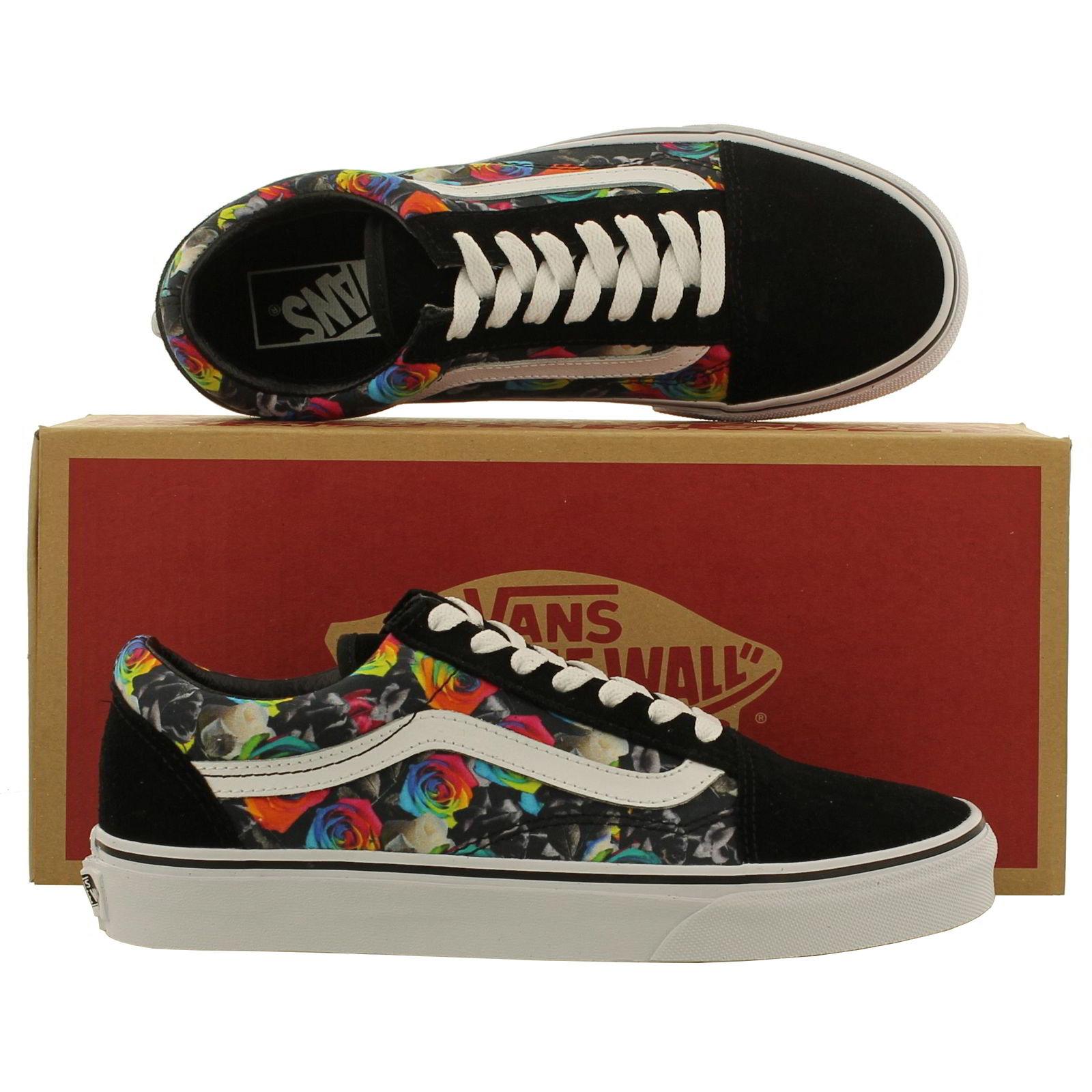 dd966b0276a3 Vans Old Skool Original Skateboarding Shoes Outdoor Rainbow Retro