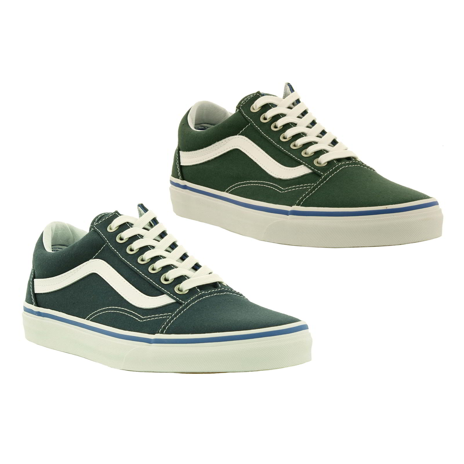 Details about Vans Old Skool Mens Classic Green Blue Skate Shoes Trainers  Size UK 8-12 f57734cc0