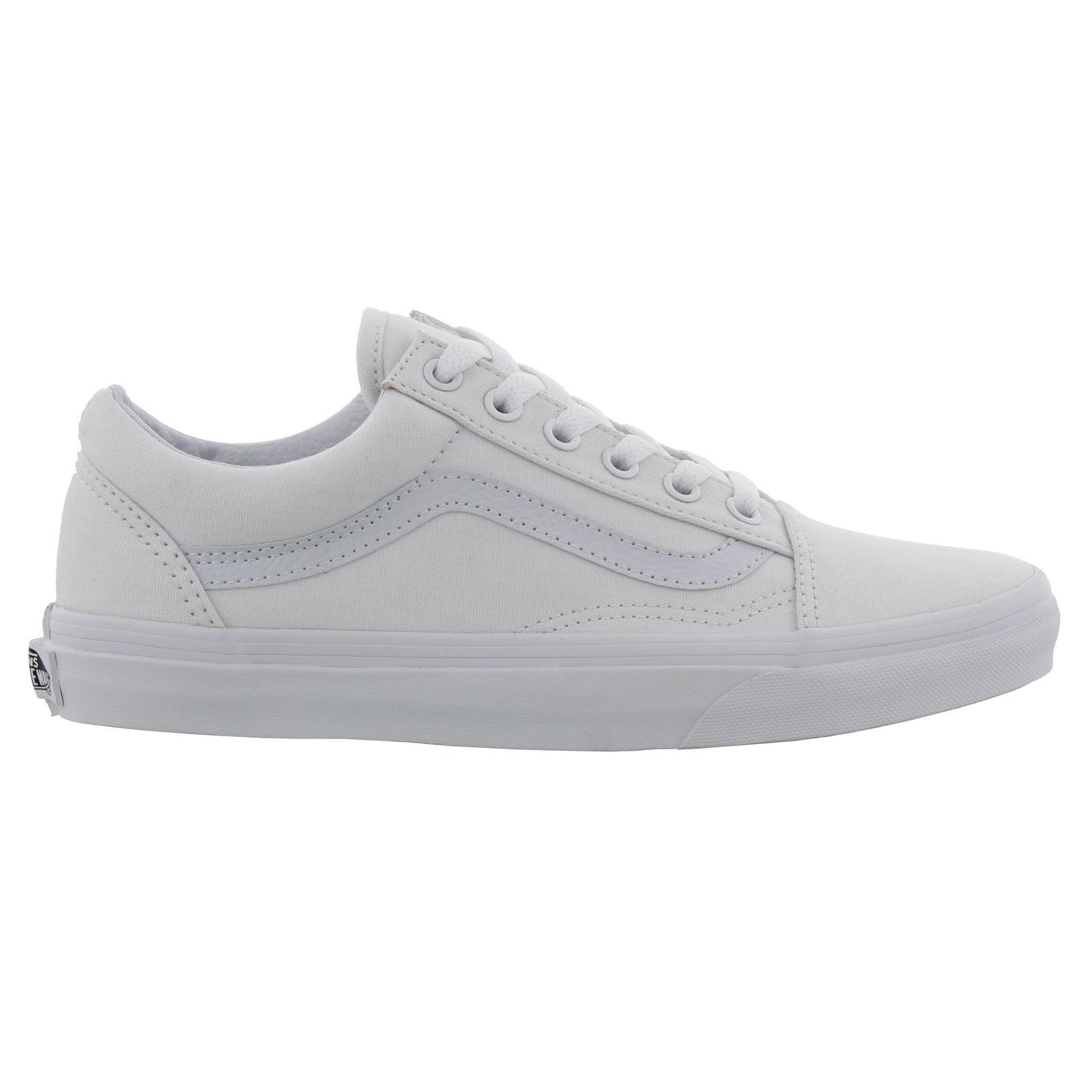 Detalles de Vans Skool para hombres Para mujeres Clásico Blanco Old Skate  Shoes Trainers- ver título original 3b91705f3f1