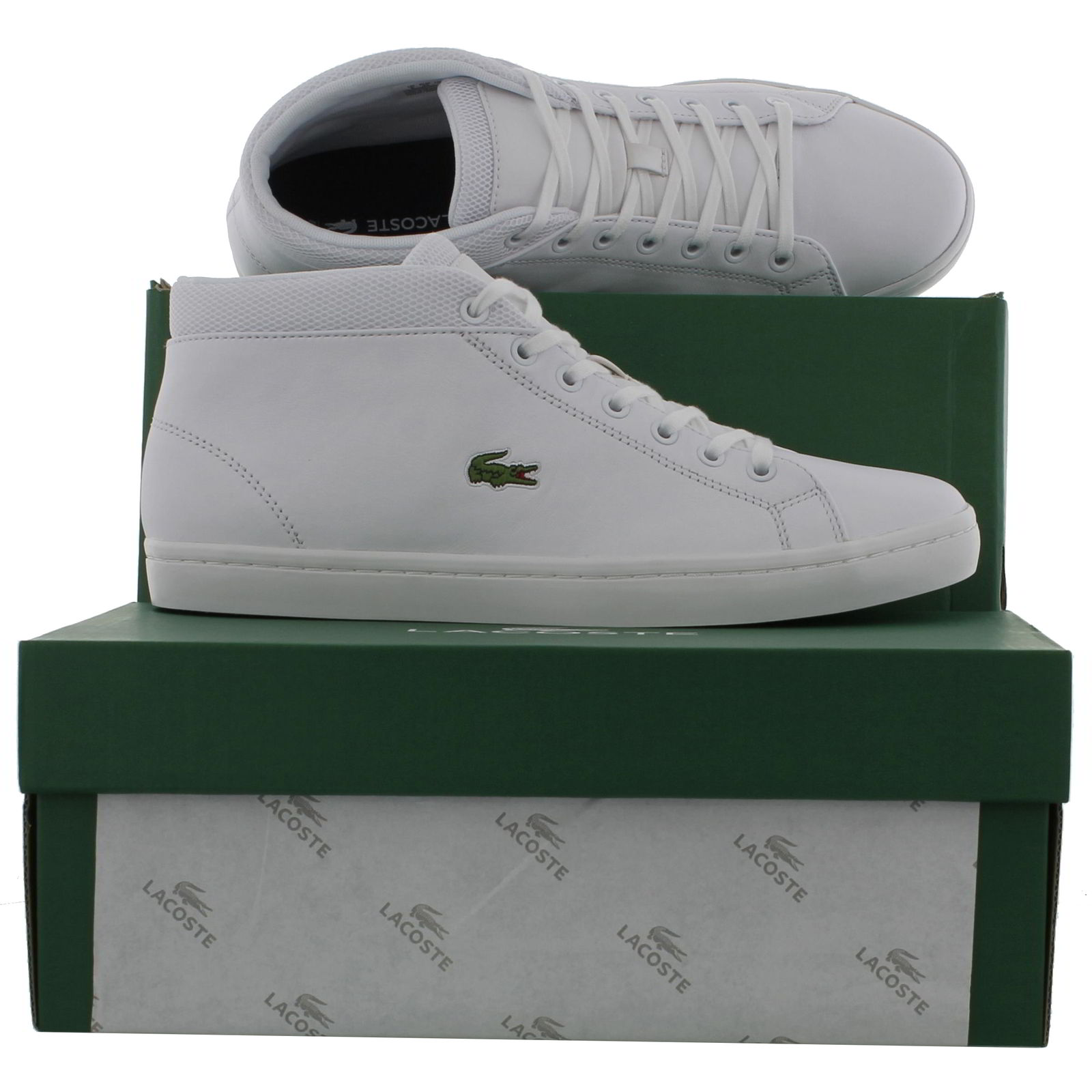 5f3aa410a Lacoste Mens Straightset Chukka 316 3 SPM White Trainers Size UK 9 ...