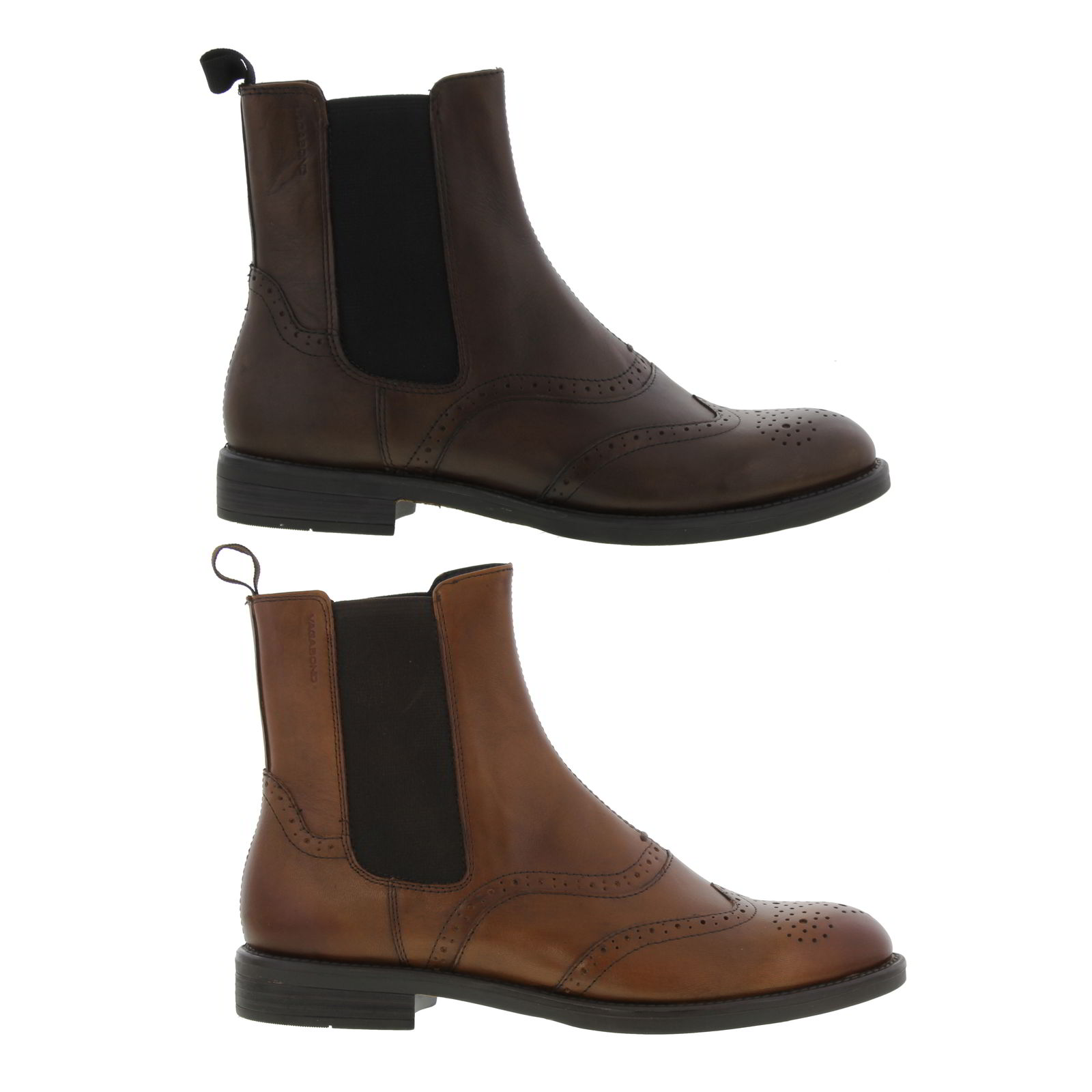 Vagabond Amina Womens Brown Leather Brogues Chelsea Boots Size UK 4 ... 990ffd39e4