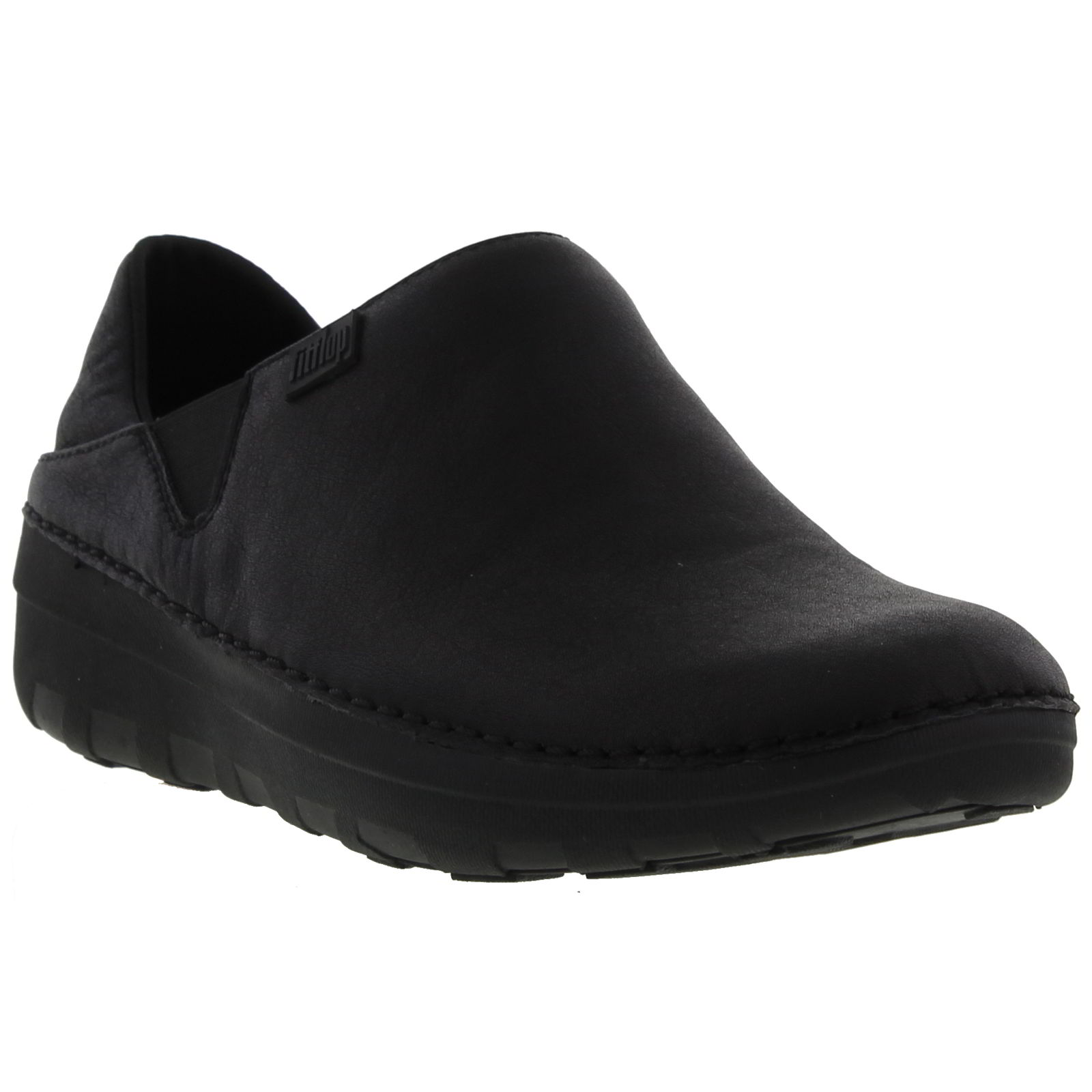 e44c35fb098a4a Details zu Fitflop Superloafer Womens Black leather Work Casual Loafers  Shoes Size 4-7