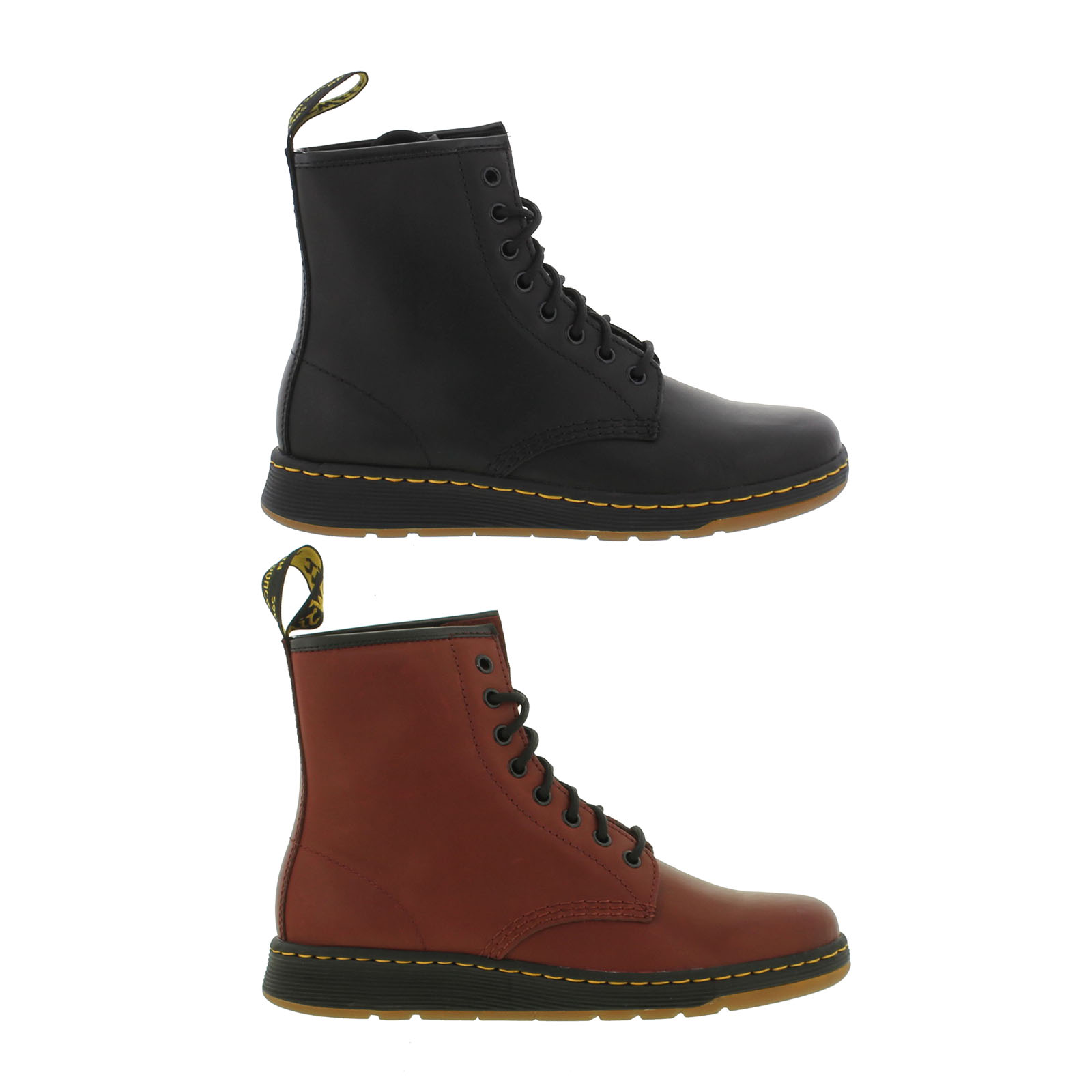 Dr. Martens Newton Lite Temperley Leather 8-Eye Boots - Cherry Red - UK 3 7Ij15eJWh