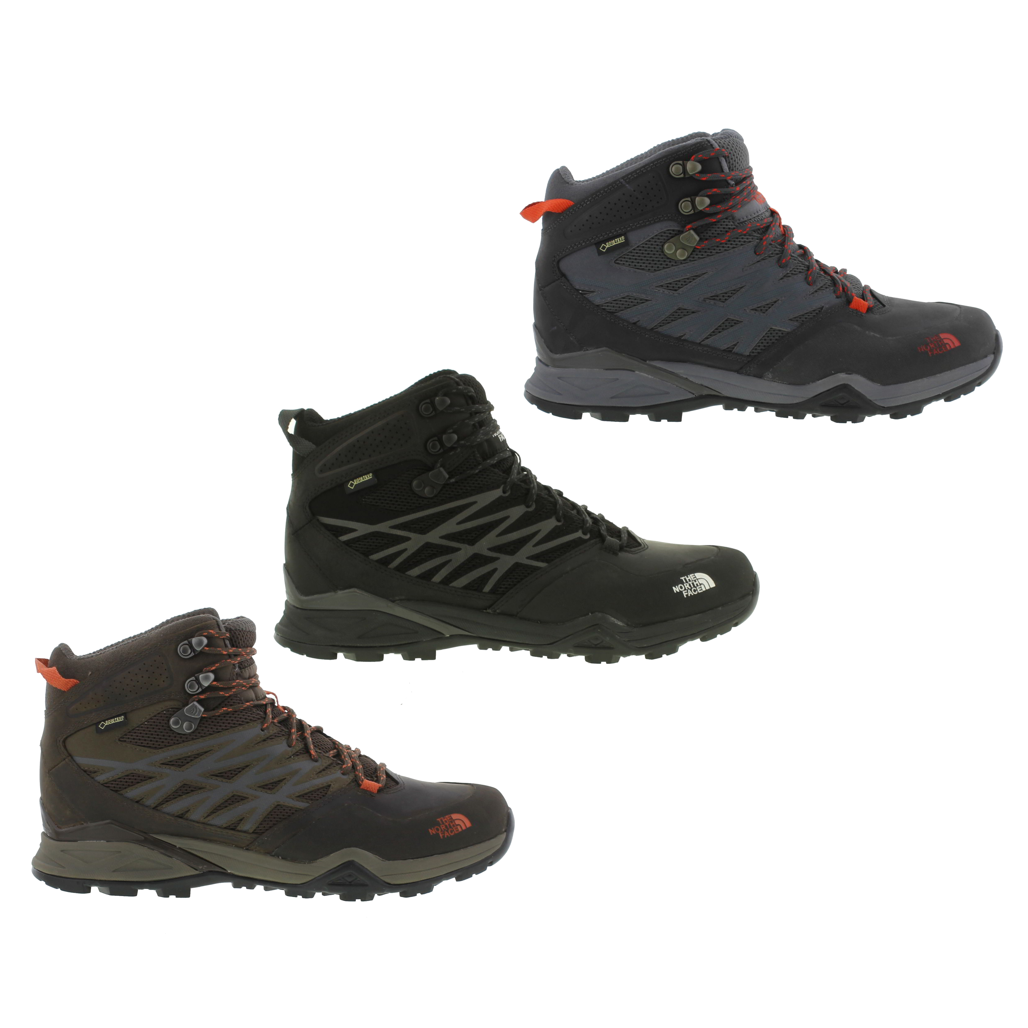 e0a41c82284 Details about North Face Hedgehog Hike Mid GTX Mens Waterproof Gortex  Walking Boots Size 7-11