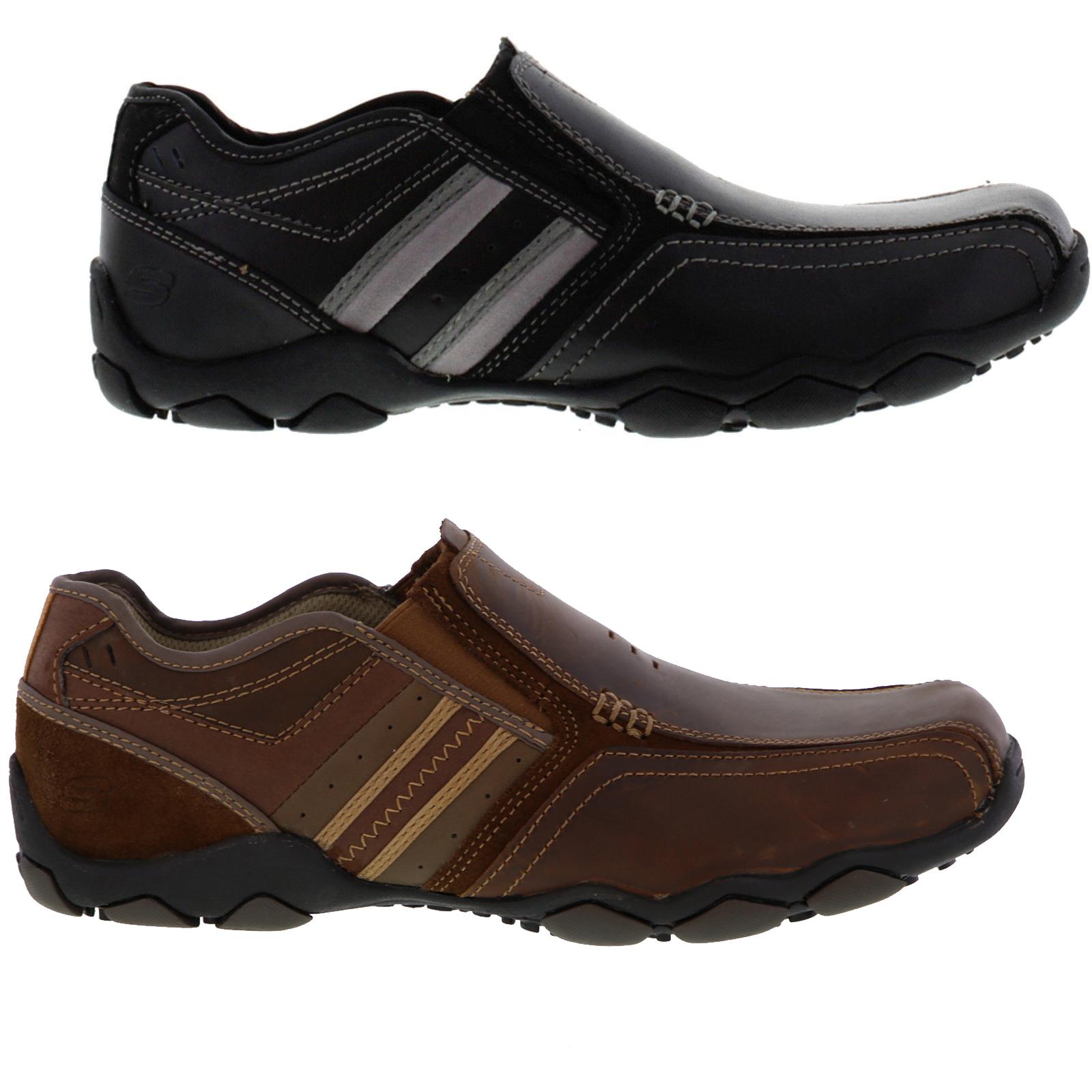 SKECHERS MEN'S DIAMETER Zinroy Slip On Casual Shoes Size 12 Brown 64275CDB