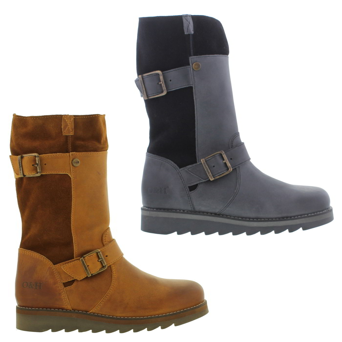 bfad765c89d Details about Oak and Hyde Coast Demi Womens Ladies Mid Black Brown Boots  Size 4-8