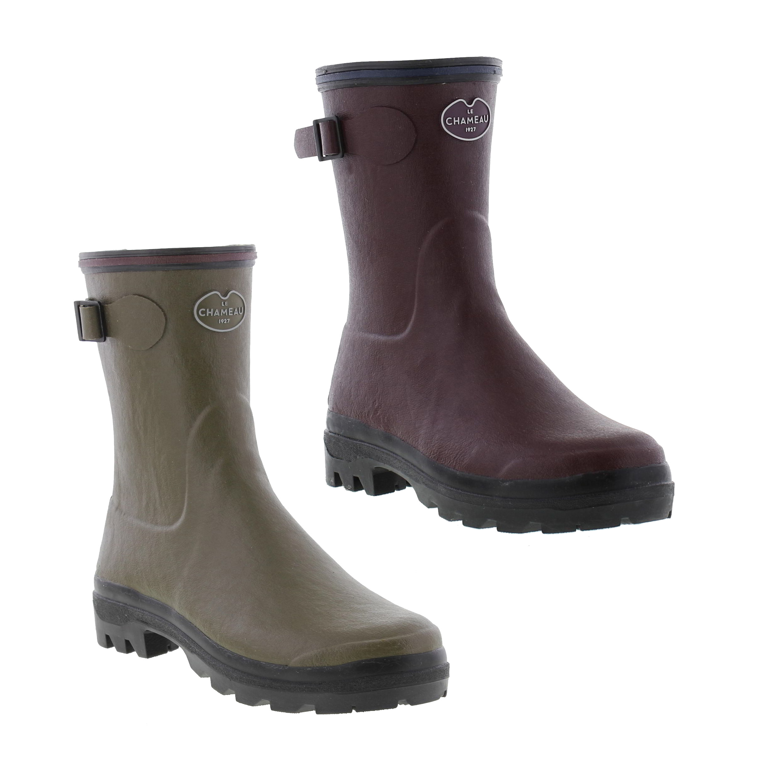 Le Chameau Giverny Low Womens Short Wellies Wellington Boots Size 4 ... 2dd5b4a037e