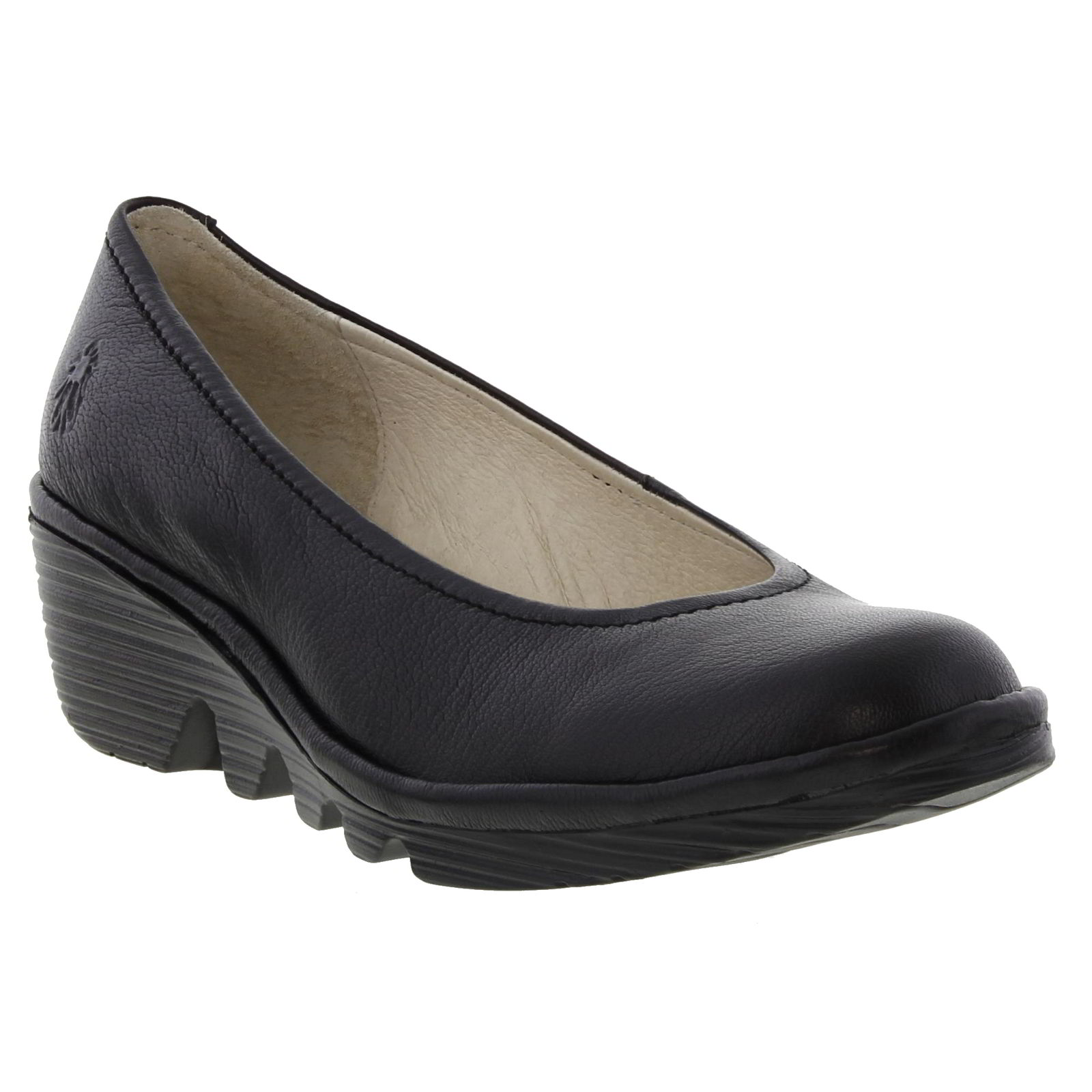 Fly London Tram Womens Ladies Black Leather Wedge Sandals Size 4-8