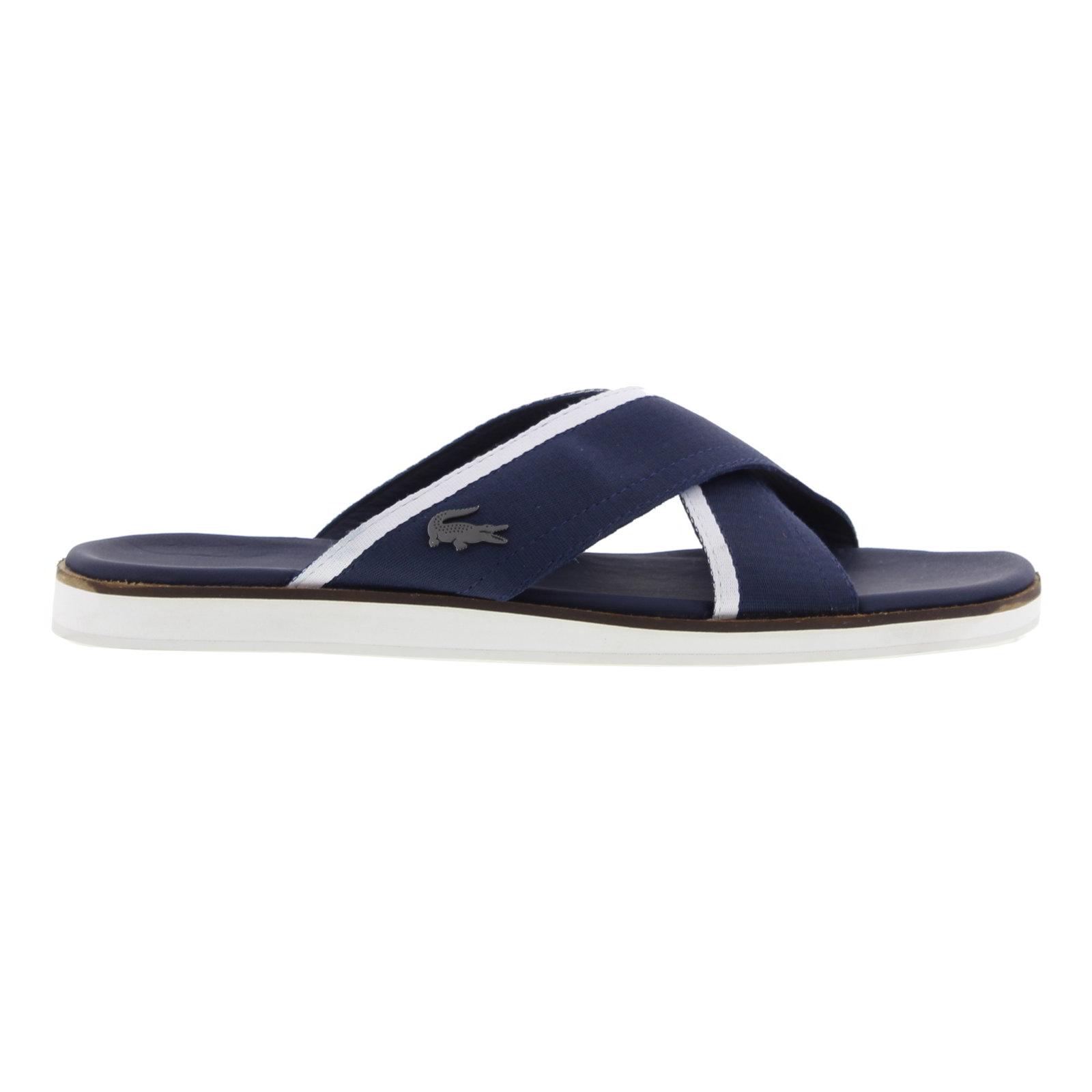d04e29a62 Detalles de Lacoste Coupri Sandalia 117 1 Cam Mens Azul Marino se Desliza  Sandalias Zapatos Talla 7-8- ver título original