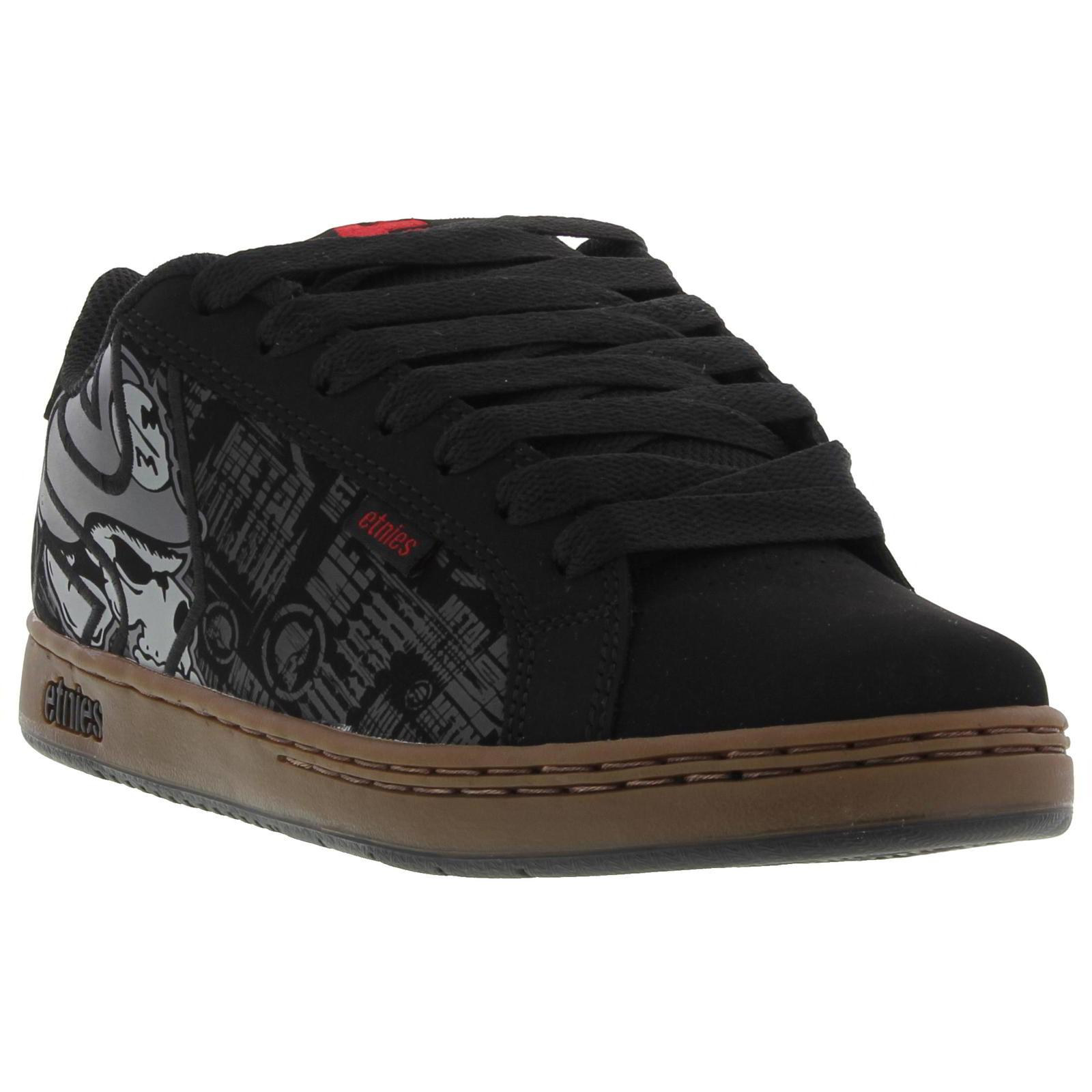 716908f8696 Details about Etnies Metal Mulisha Fader Mens Black White Skate Shoes  Trainers Size UK 8-10