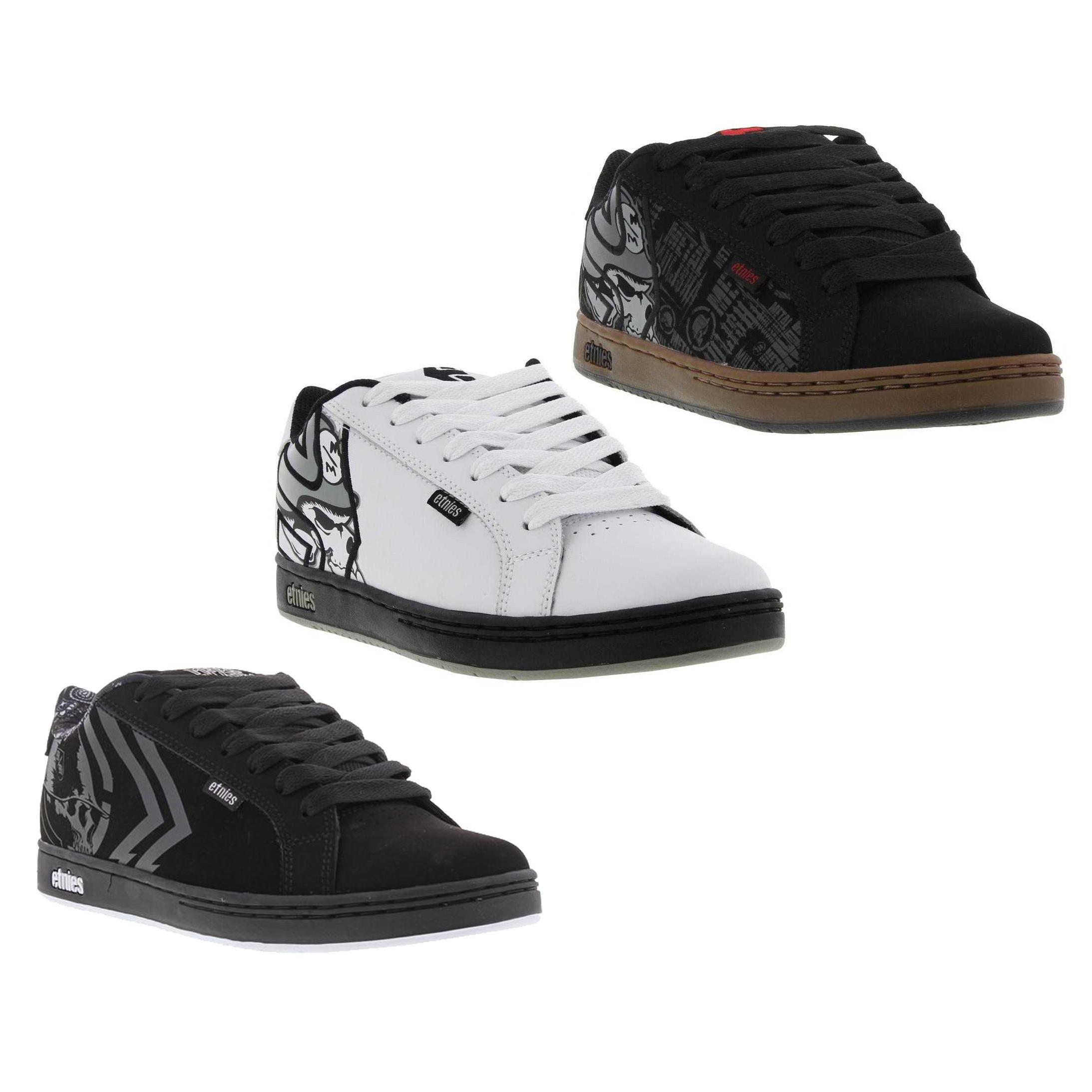 b078c730c52 Etnies Metal Mulisha Fader Mens Black White Skate Shoes Trainers ...